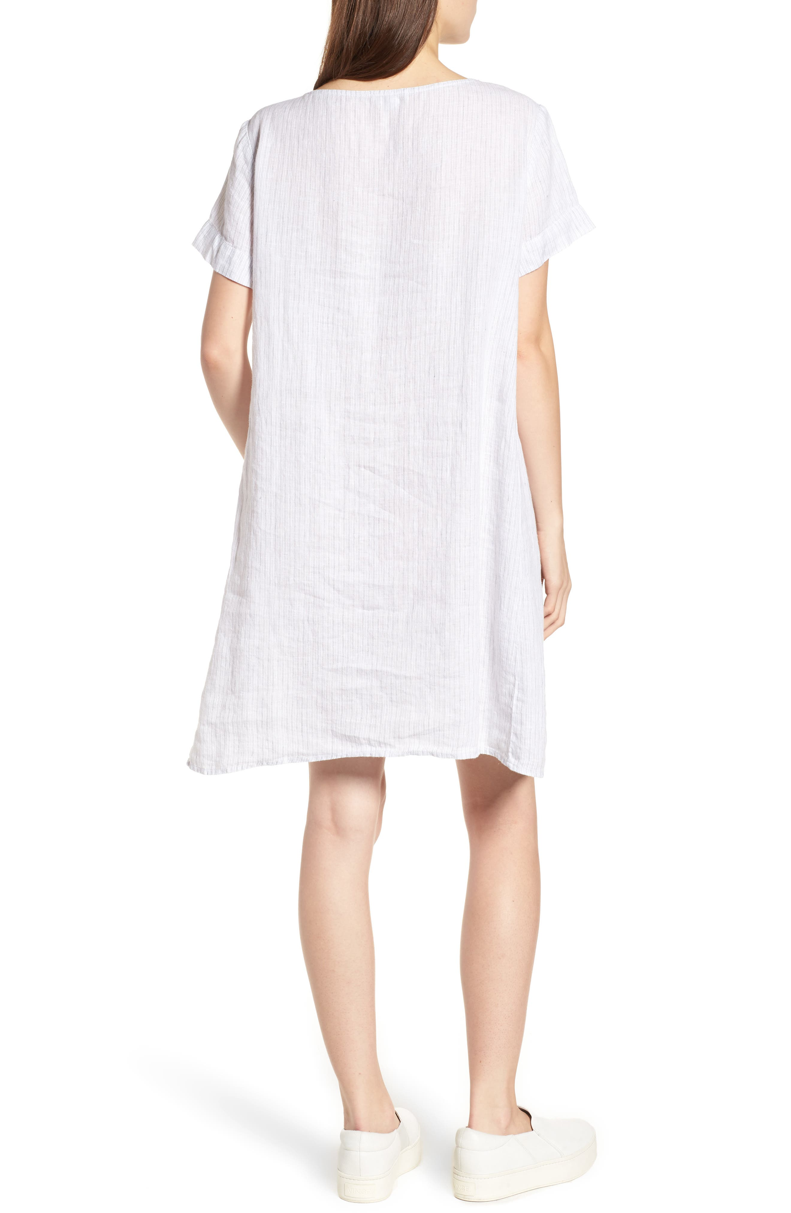 Stripe Linen Dress,                             Alternate thumbnail 2, color,                             053