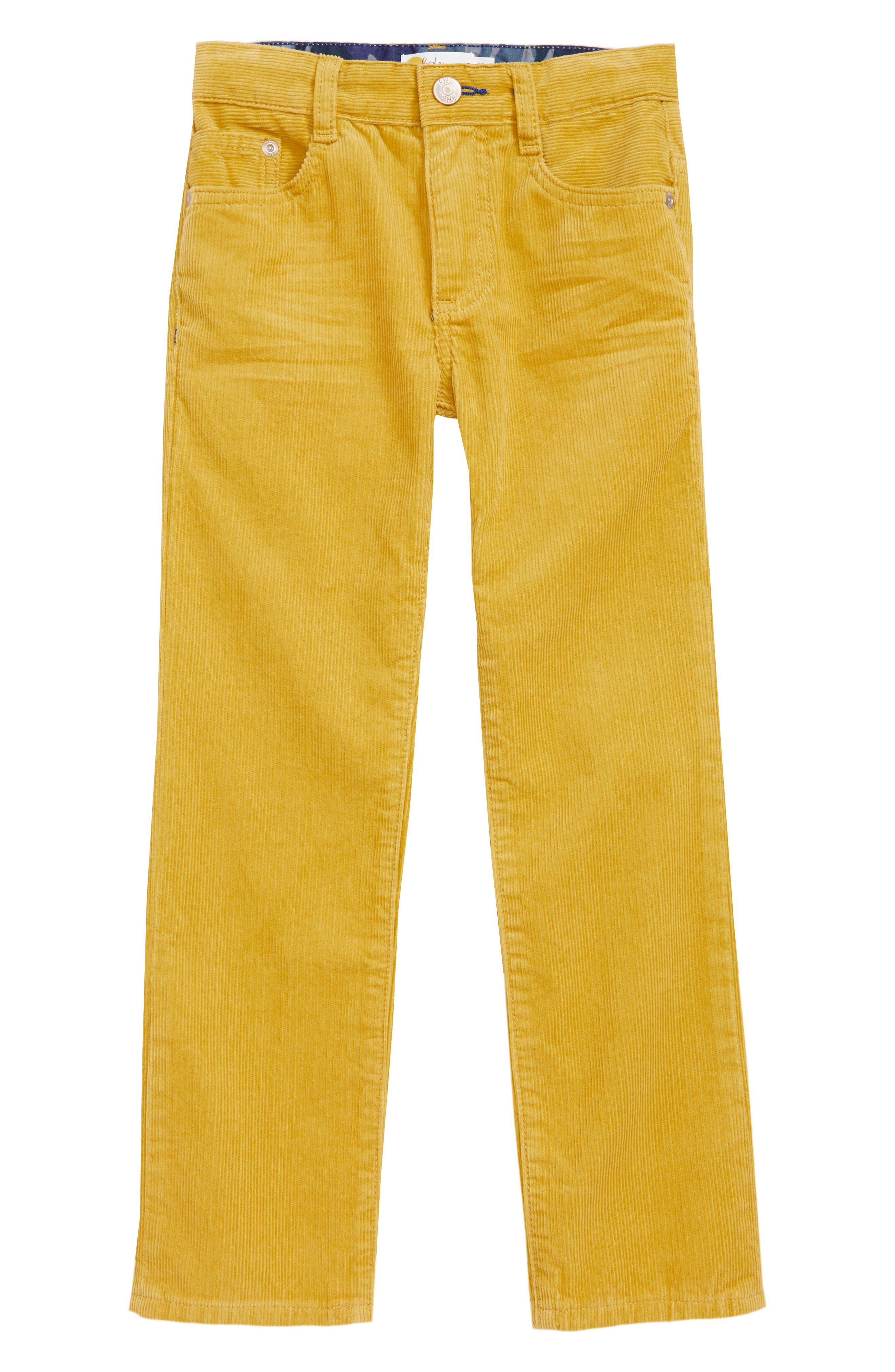 Slim Corduroy Jeans,                             Main thumbnail 1, color,                             SOFT LIME YELLOW