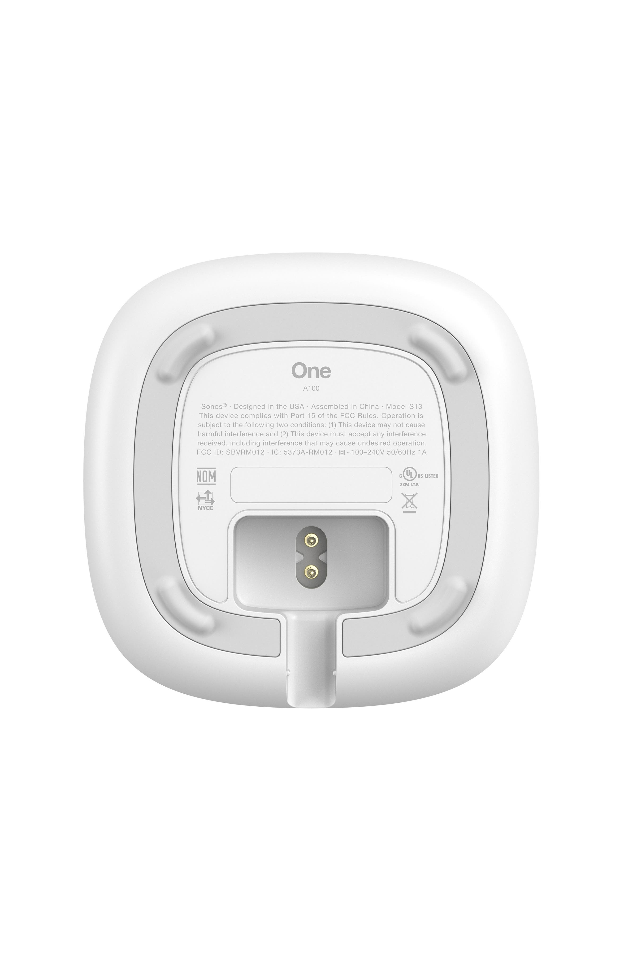 One Voice Controlled Smart Speaker,                             Alternate thumbnail 5, color,                             WHITE