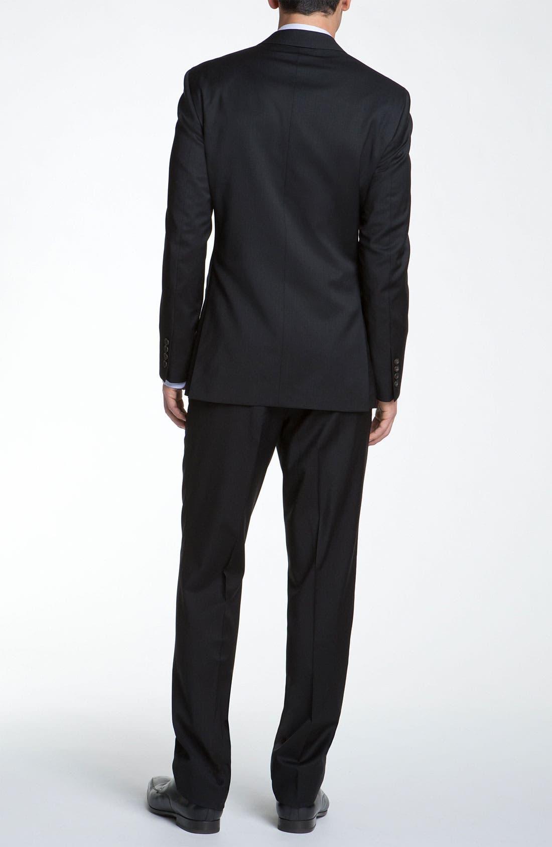 Jones Trim Fit Wool Suit,                             Alternate thumbnail 13, color,                             001