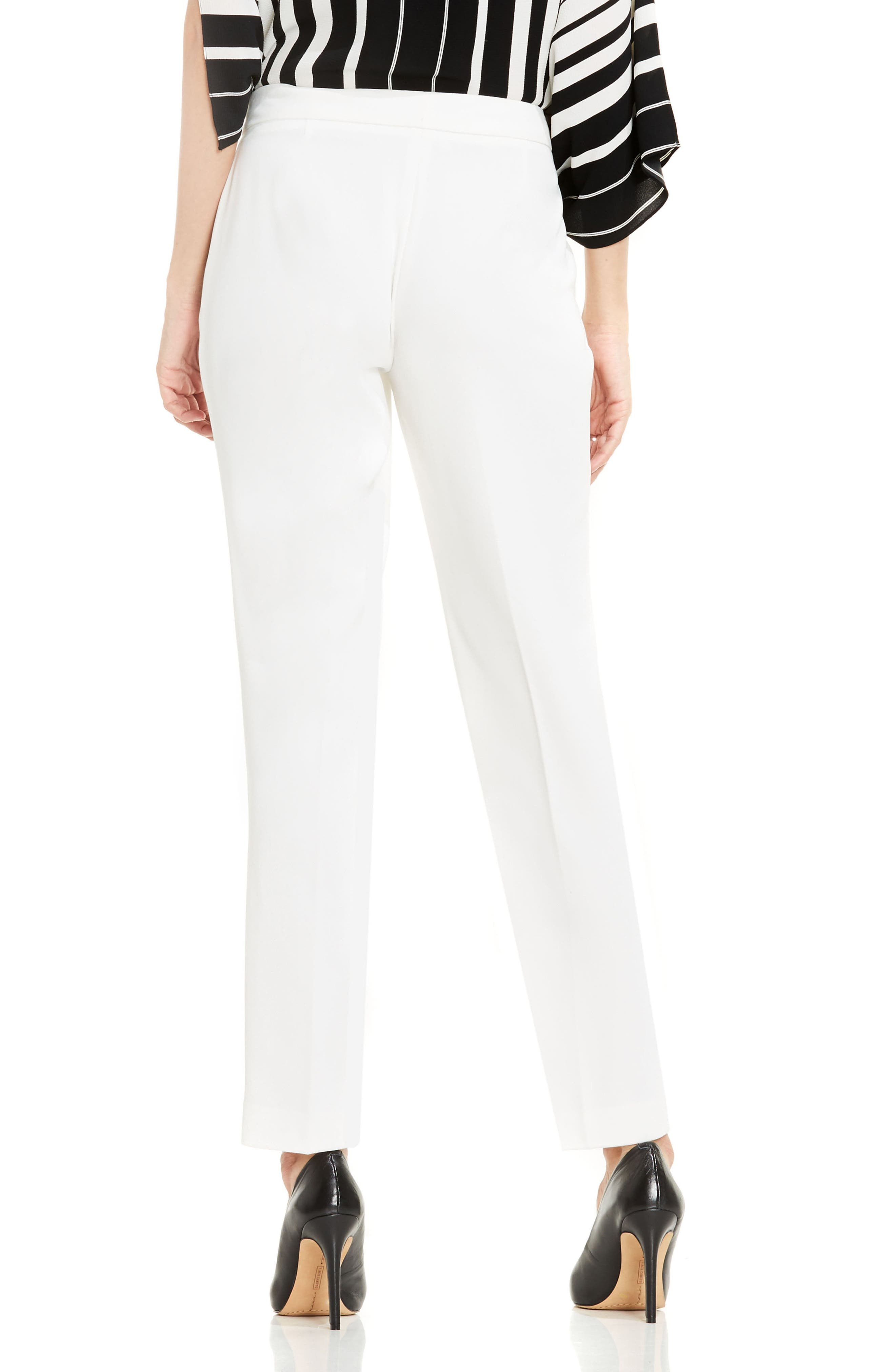 Textured Skinny Ankle Pants,                             Alternate thumbnail 2, color,                             NEW IVORY