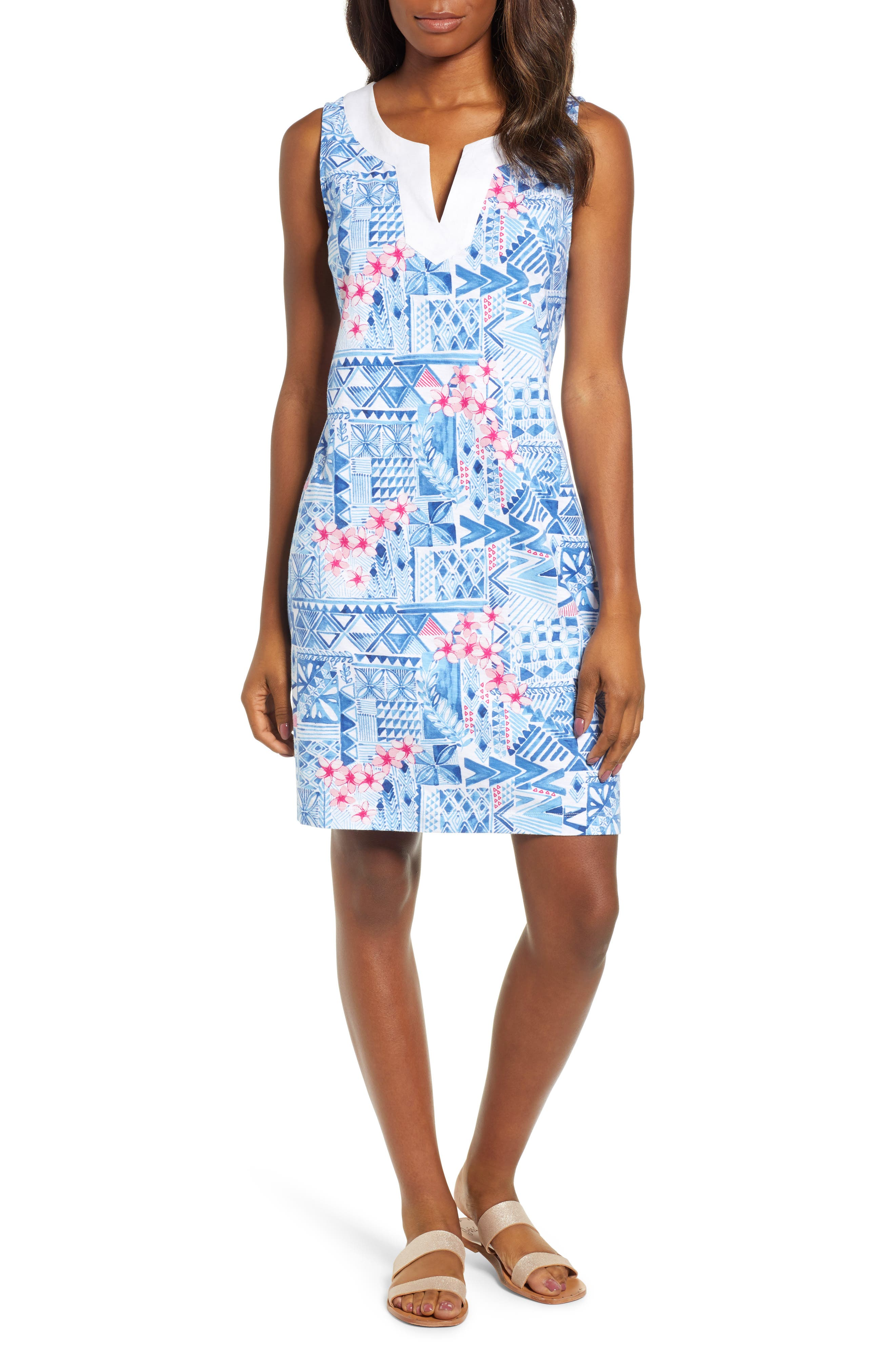 Tommy Bahama Patio Leis Shift Dress, Blue