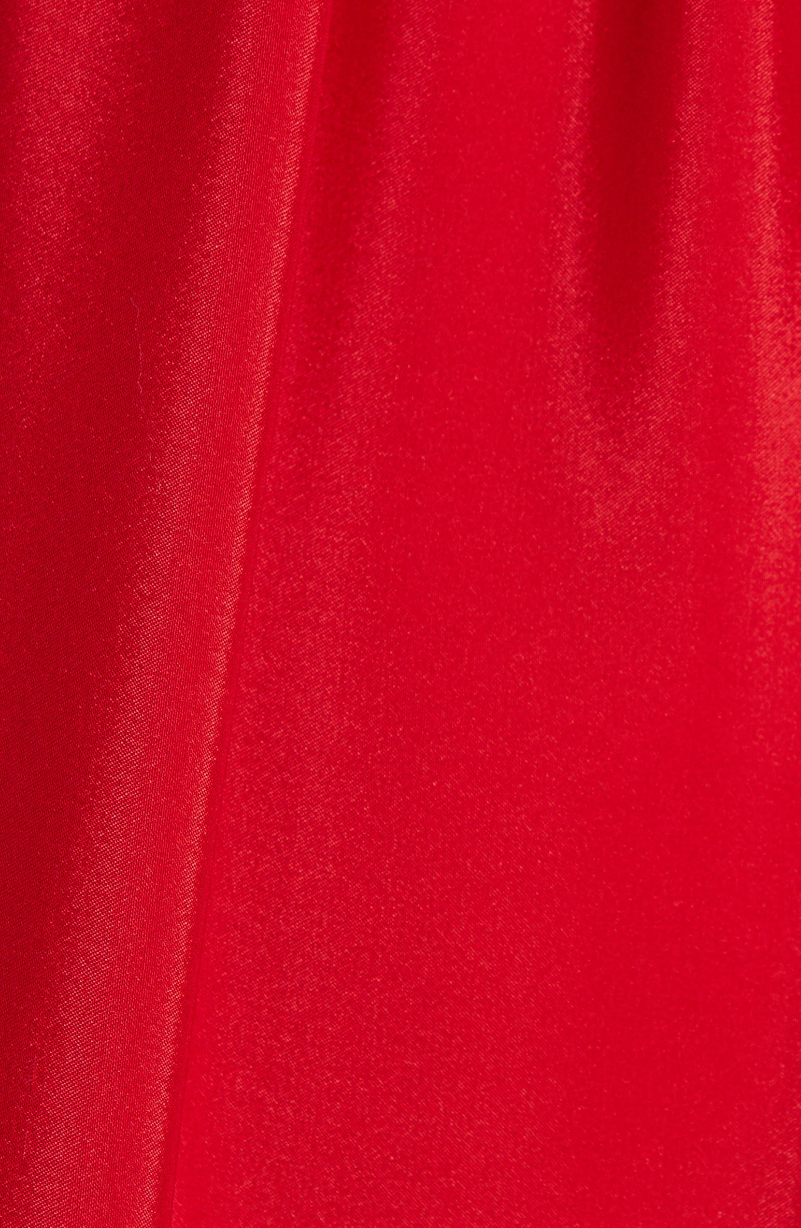 Moonlight Embroidered Silk Dress,                             Alternate thumbnail 5, color,                             VALENTINE