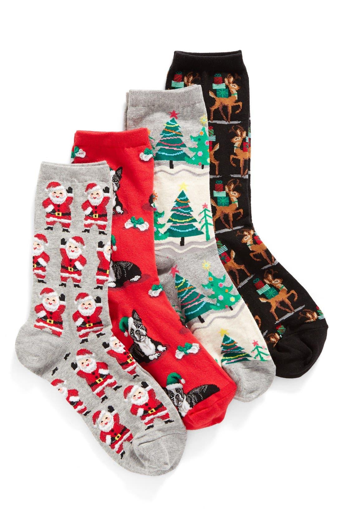 Holiday Socks Gift Set,                             Alternate thumbnail 3, color,                             020