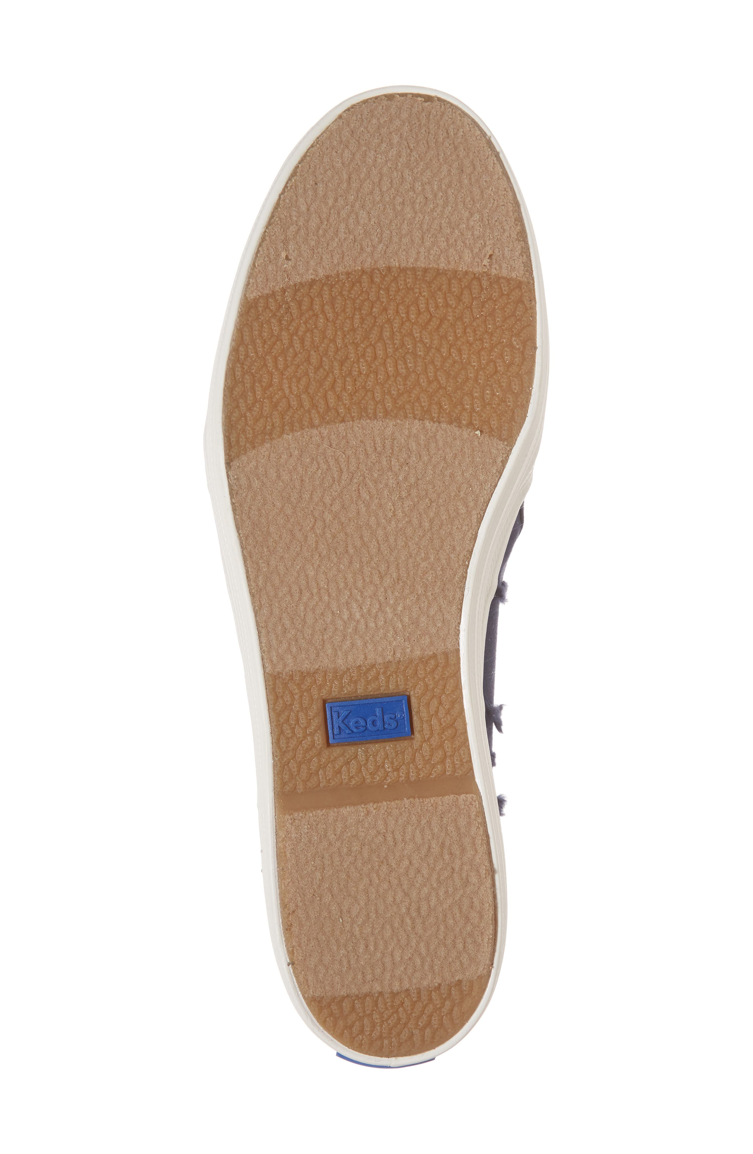Triple Decker Eyelash Fringe Slip-On Sneaker,                             Alternate thumbnail 6, color,                             400
