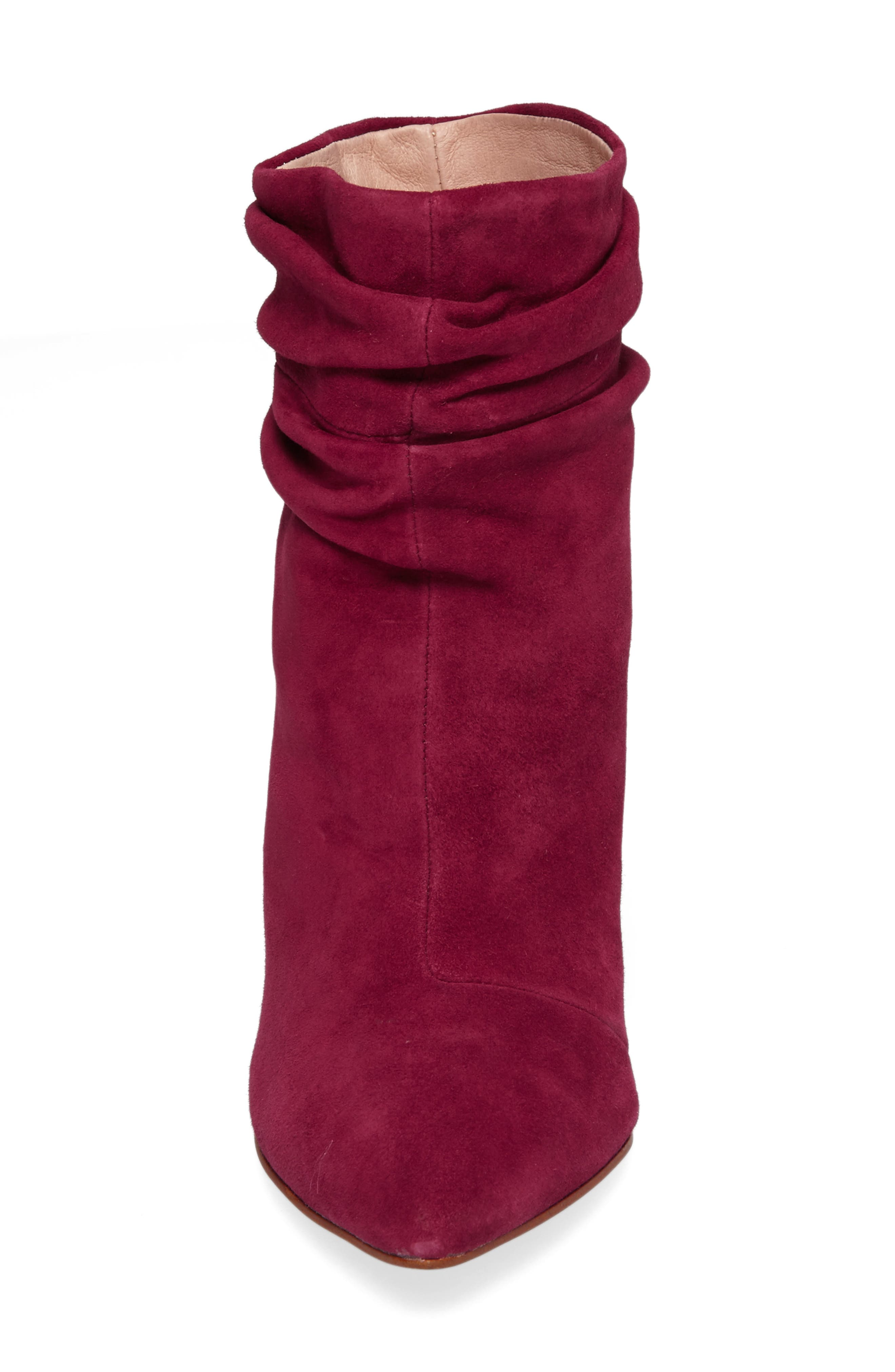 Kane Bootie,                             Alternate thumbnail 4, color,                             RED SUEDE