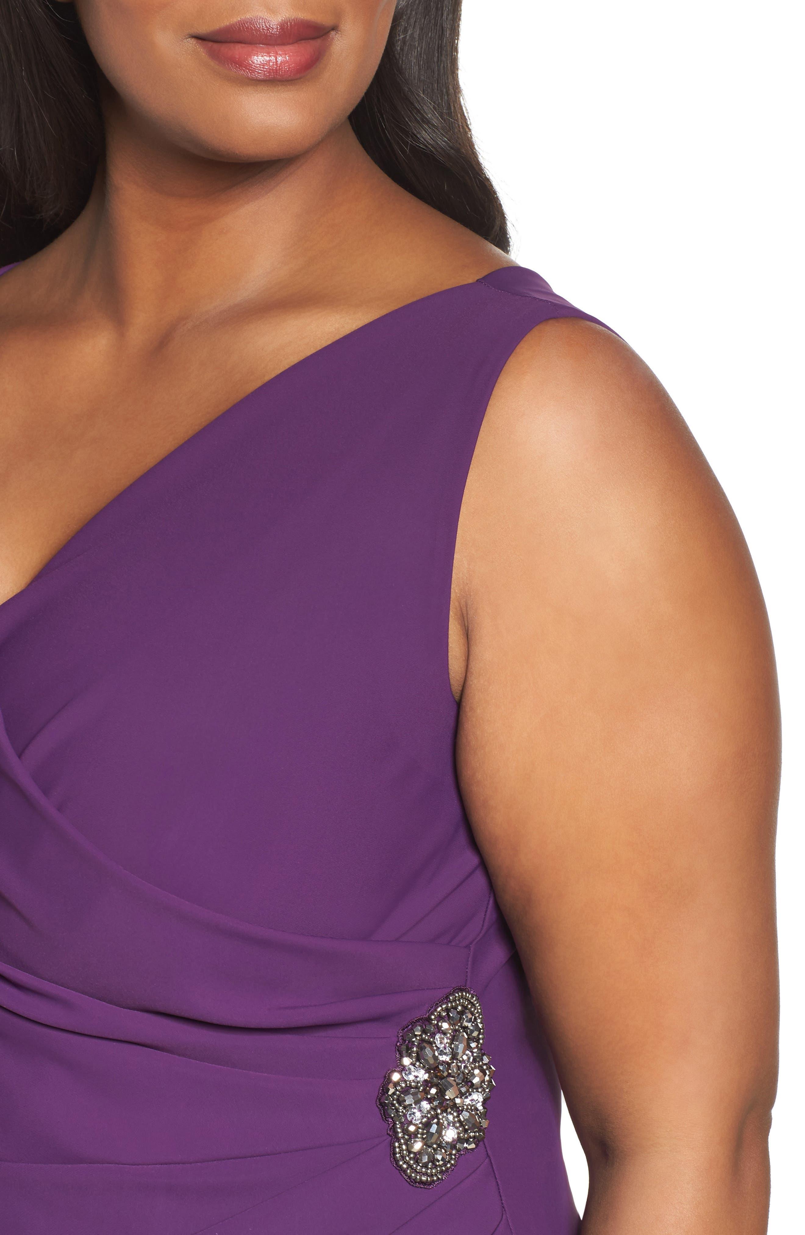 Embellished Surplice Sheath Dress,                             Alternate thumbnail 27, color,