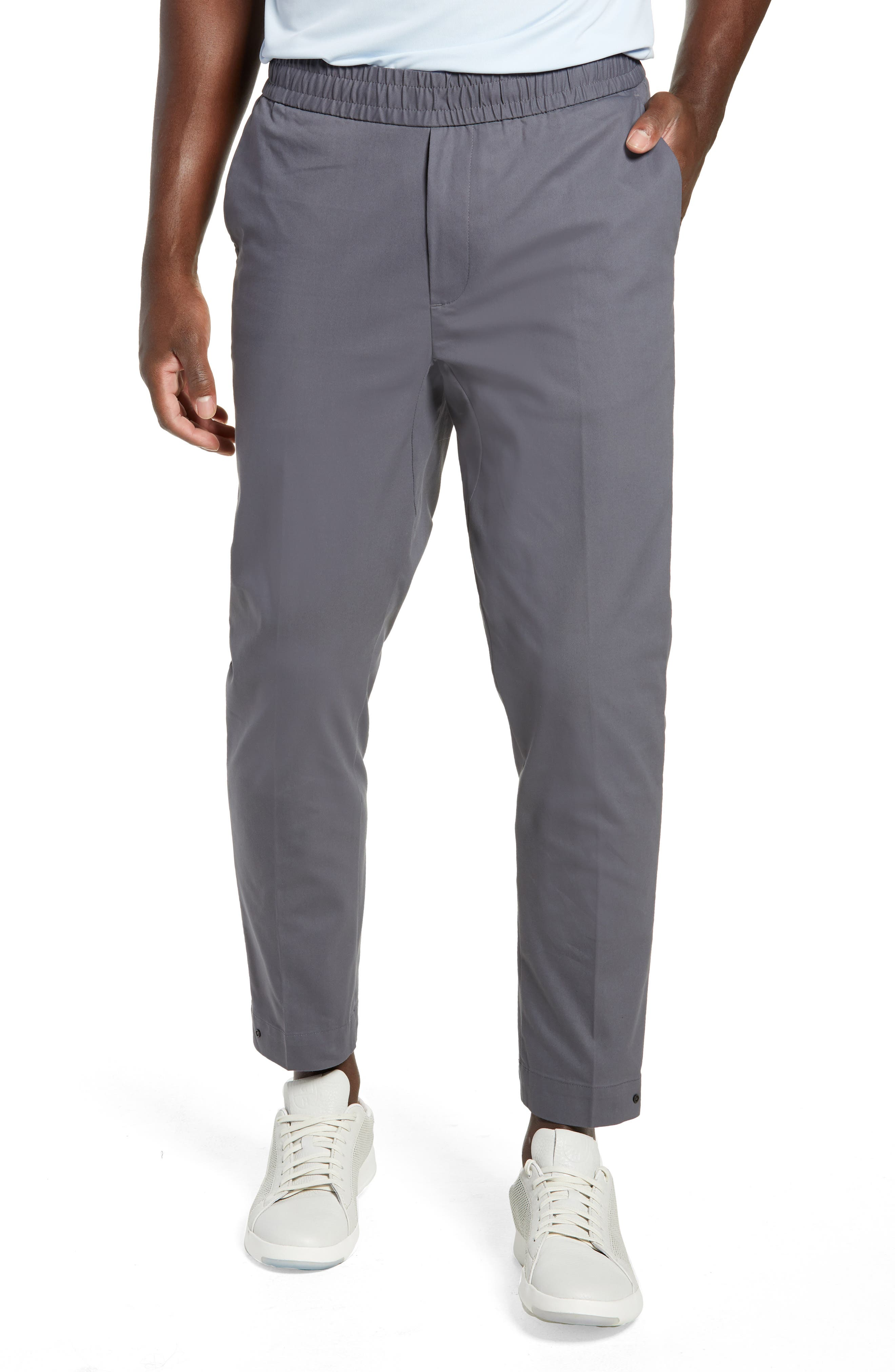 Slim Fit Tech E-Waist Pants,                             Main thumbnail 1, color,                             THUNDERCLOUD