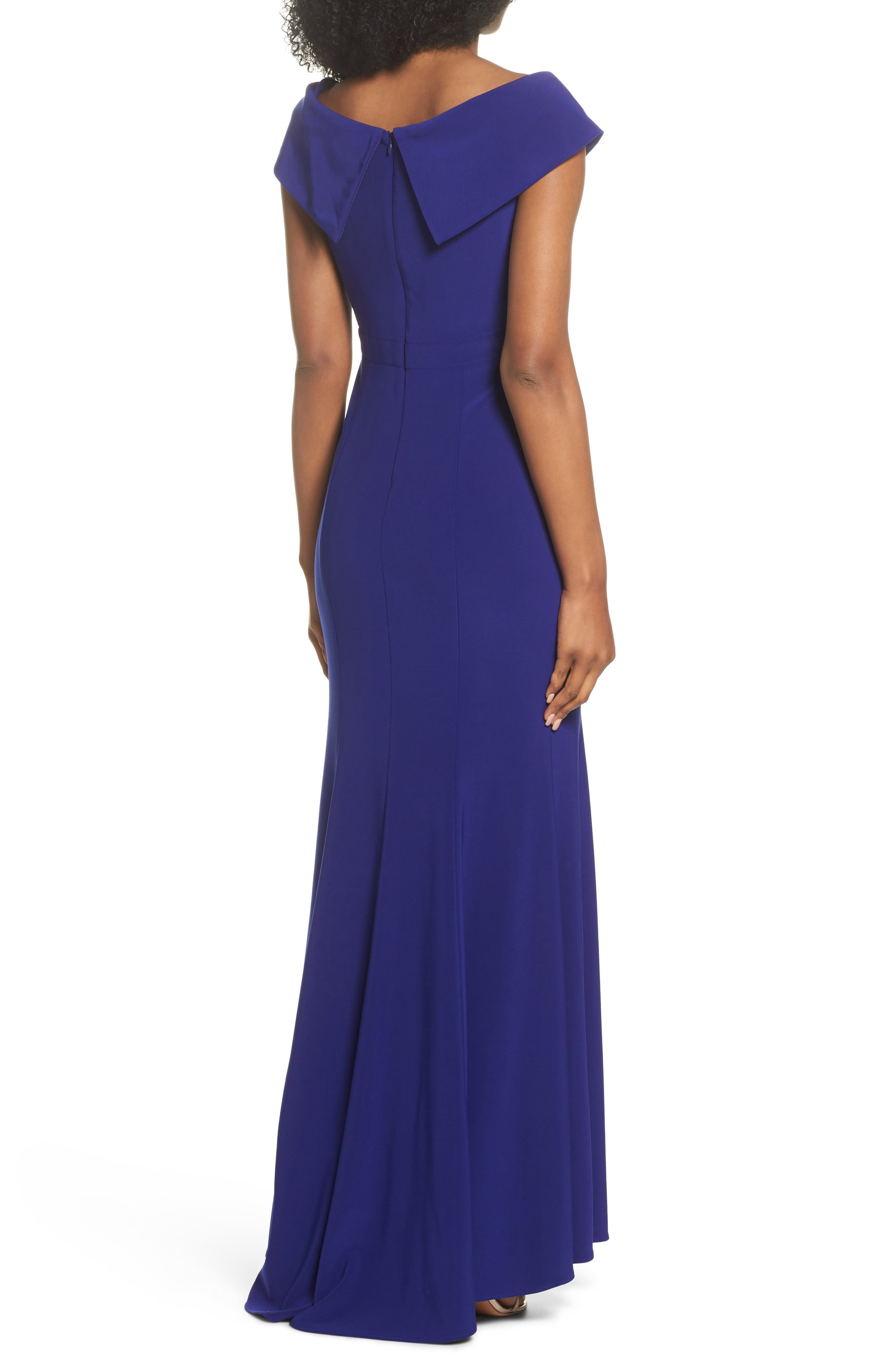 Off the Shoulder Gown,                             Alternate thumbnail 2, color,                             ELECTRIC BLUE