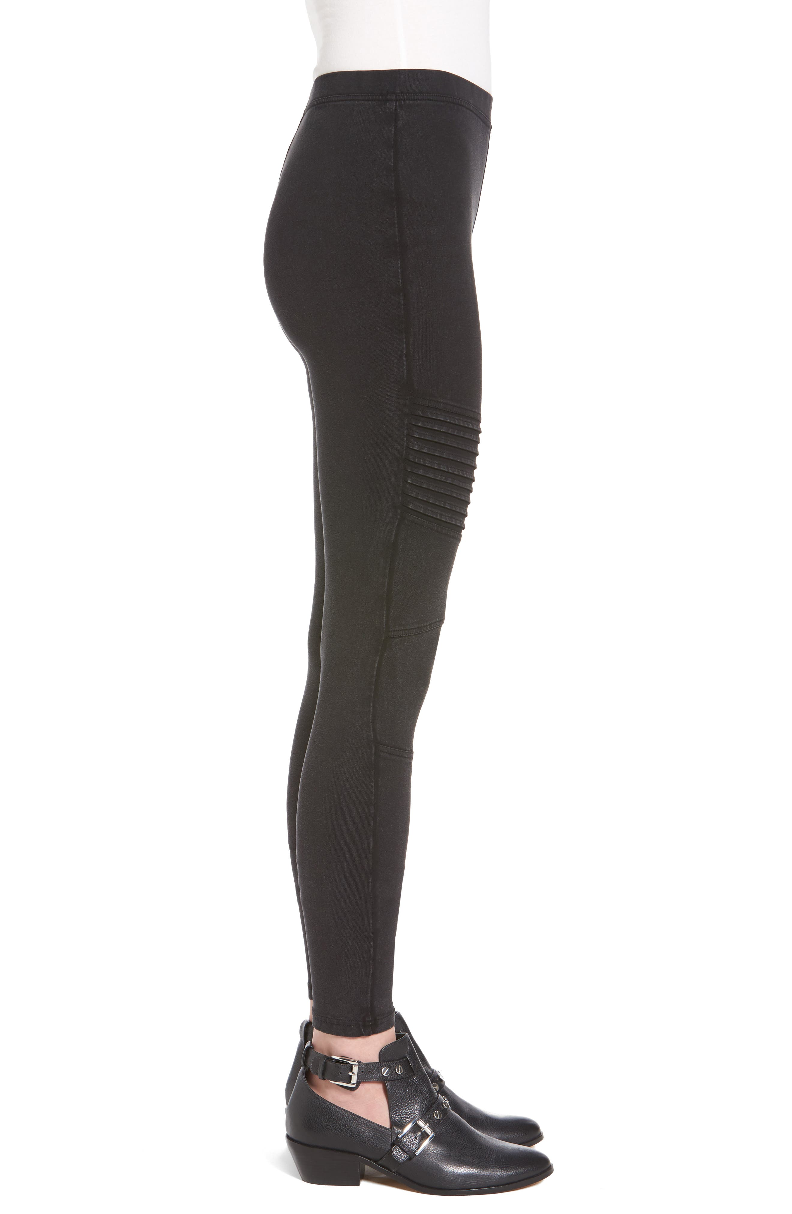 BP.,                             Moto Leggings,                             Alternate thumbnail 3, color,                             001