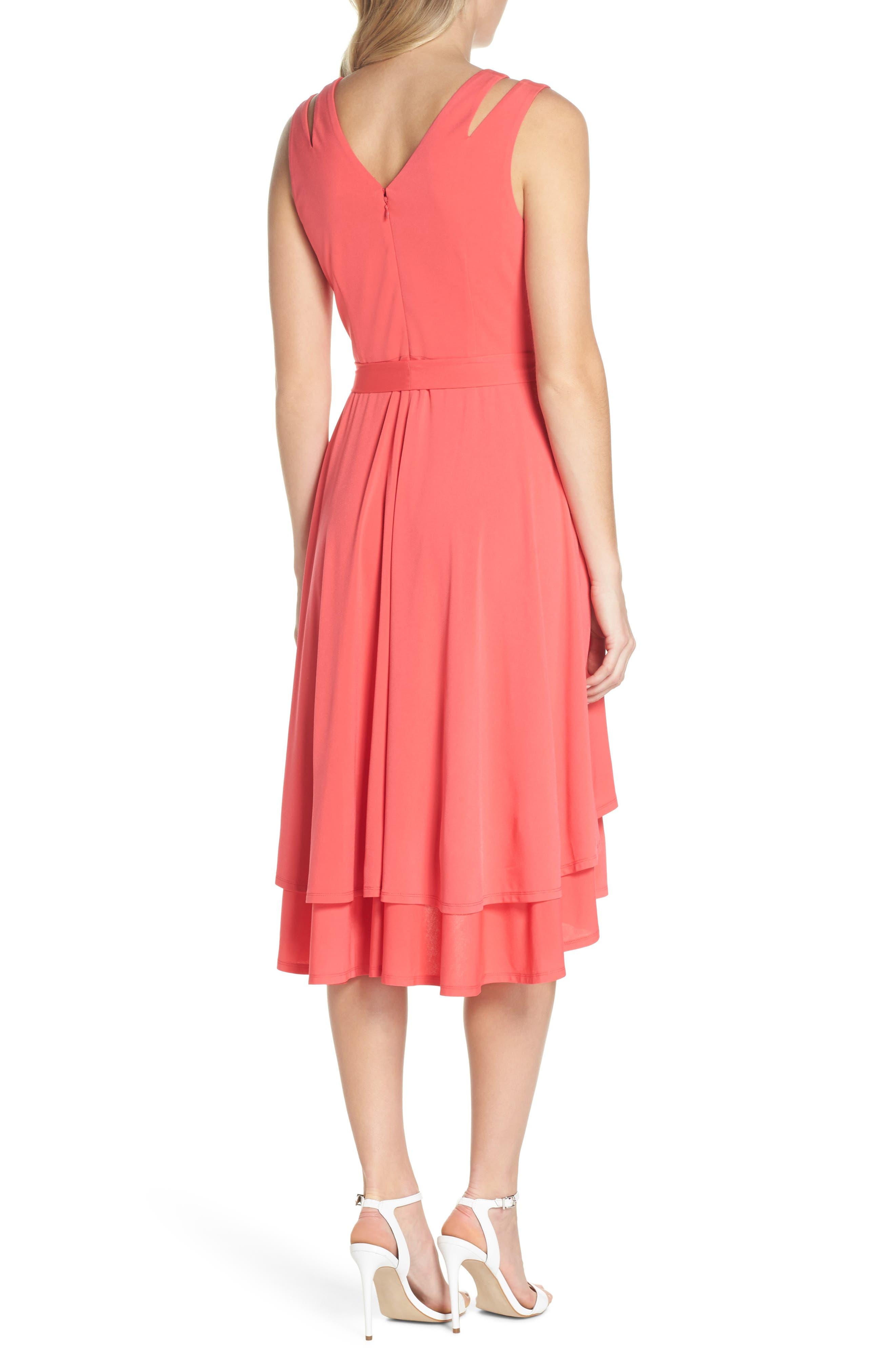 Split Shoulder High/Low Dress,                             Alternate thumbnail 2, color,                             660