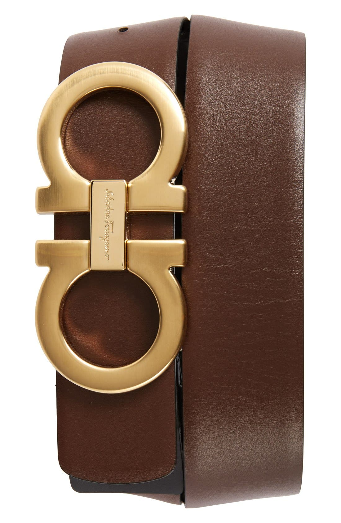 Reversible Calfskin Belt,                             Alternate thumbnail 2, color,                             001