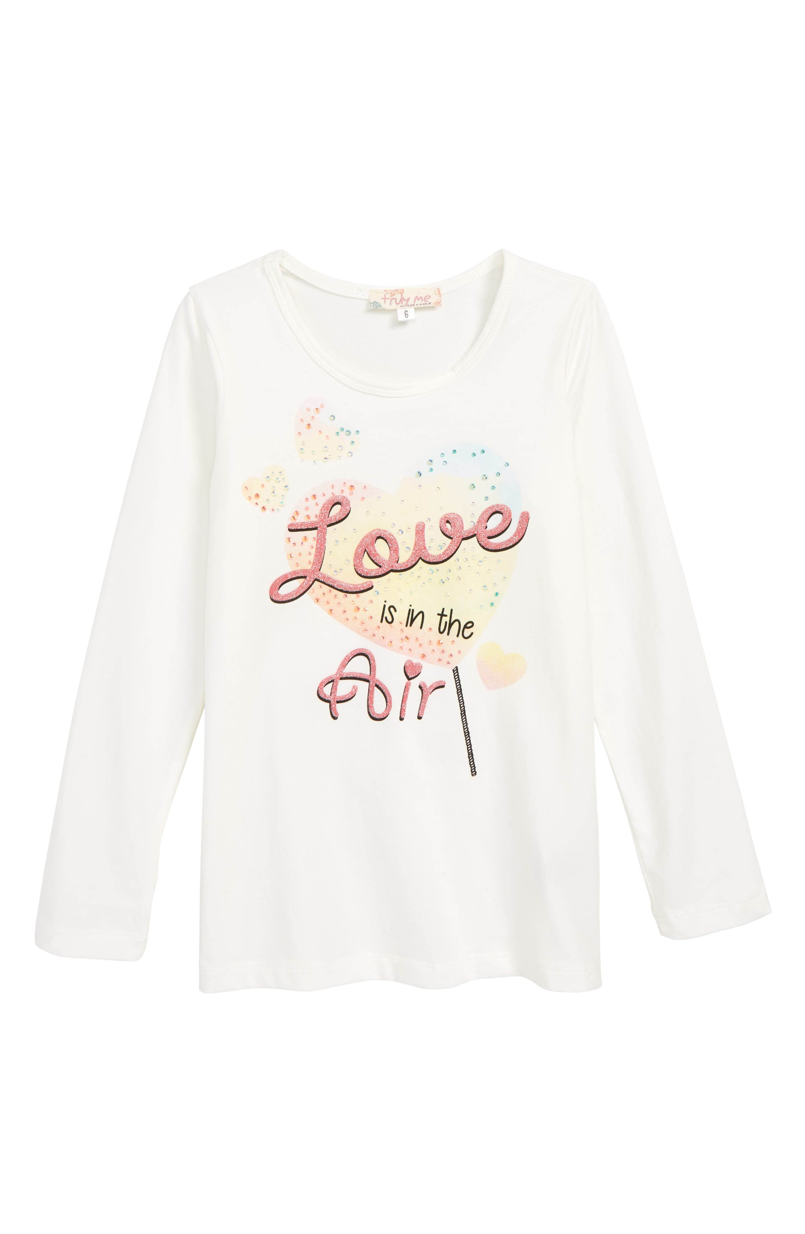 Love is in the Air Tee, Main, color, WHITE