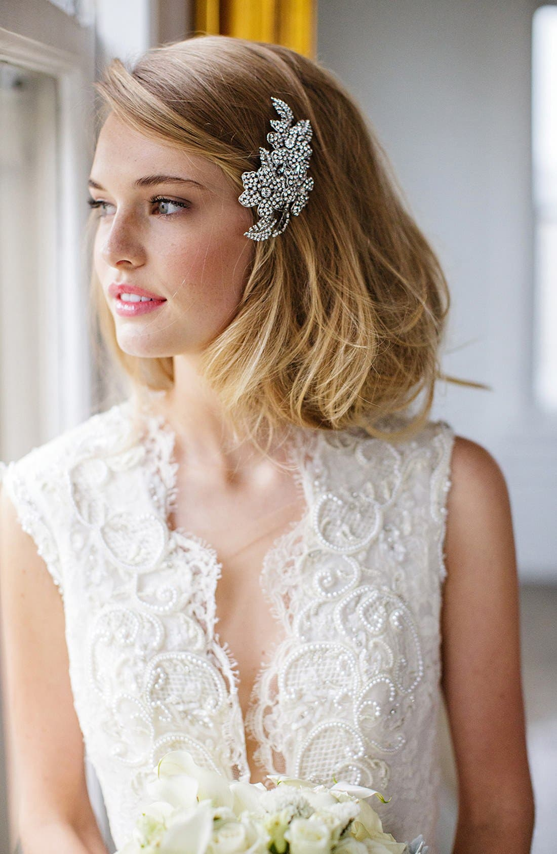 'Esther' Crystal Embellished Hair Clip,                             Main thumbnail 2, color,