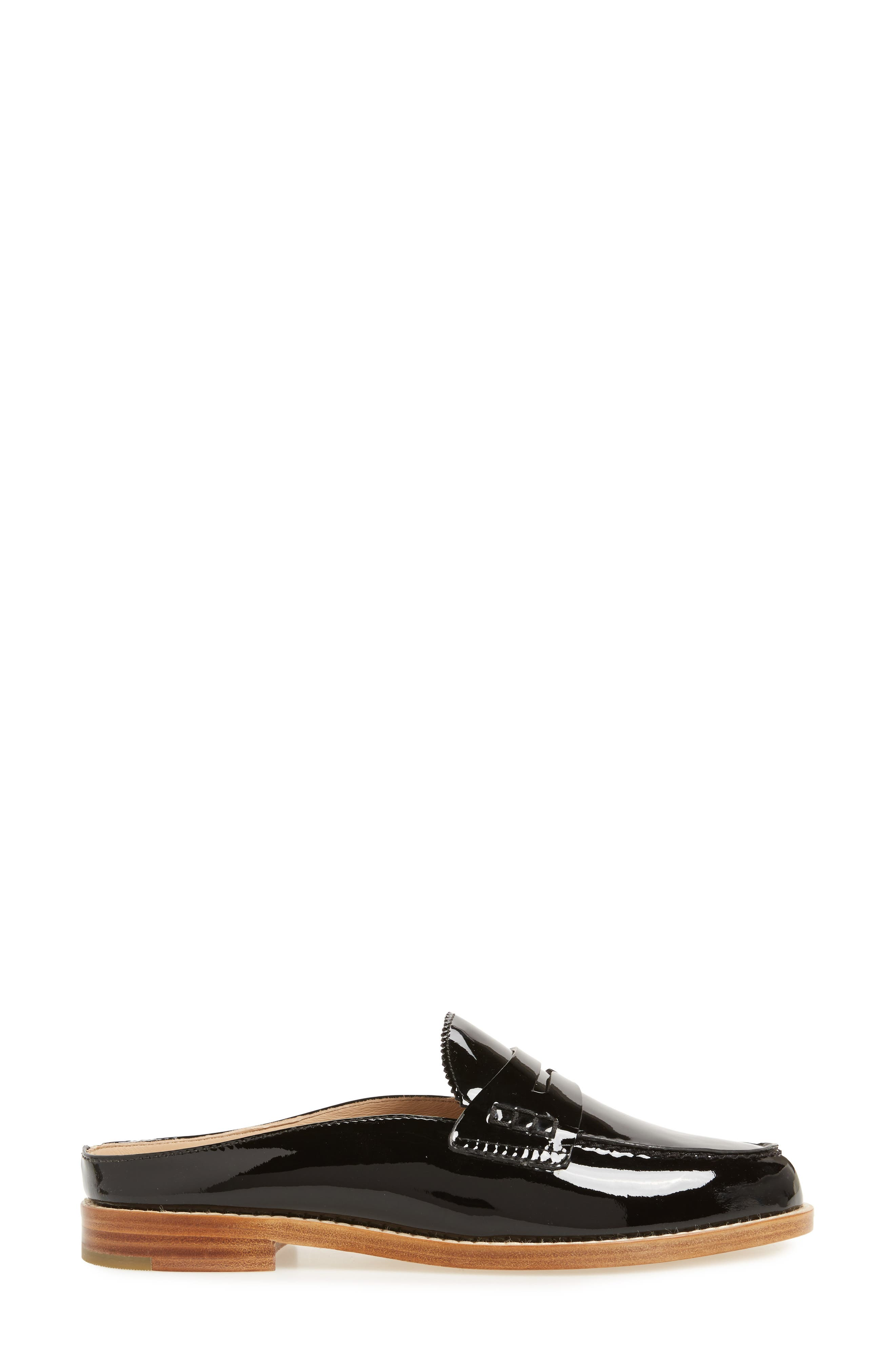 Giada Loafer Mule,                             Alternate thumbnail 3, color,                             BLACK PATENT