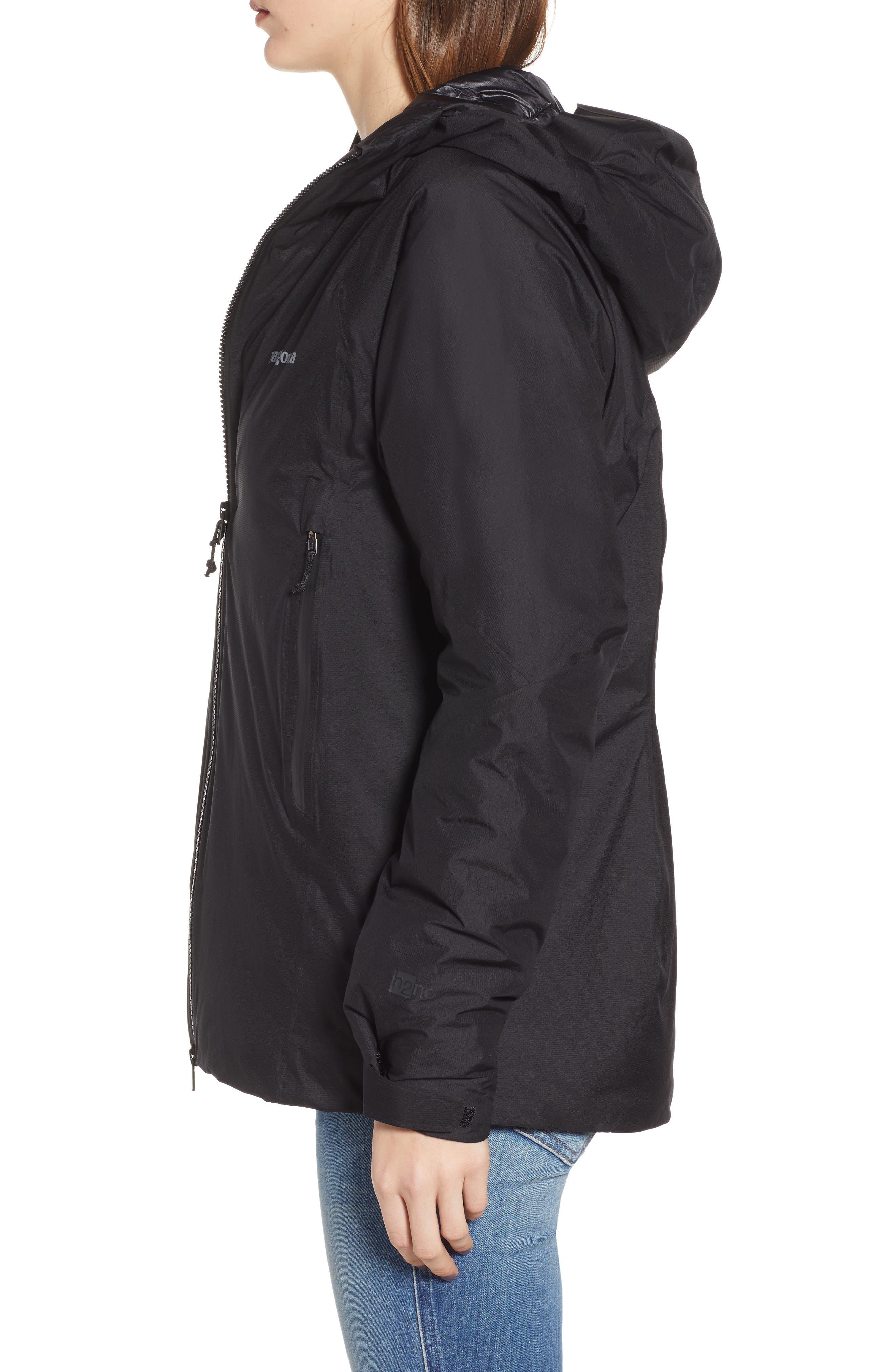 Micro Puff<sup>®</sup> Waterproof Storm Jacket,                             Alternate thumbnail 3, color,                             BLACK