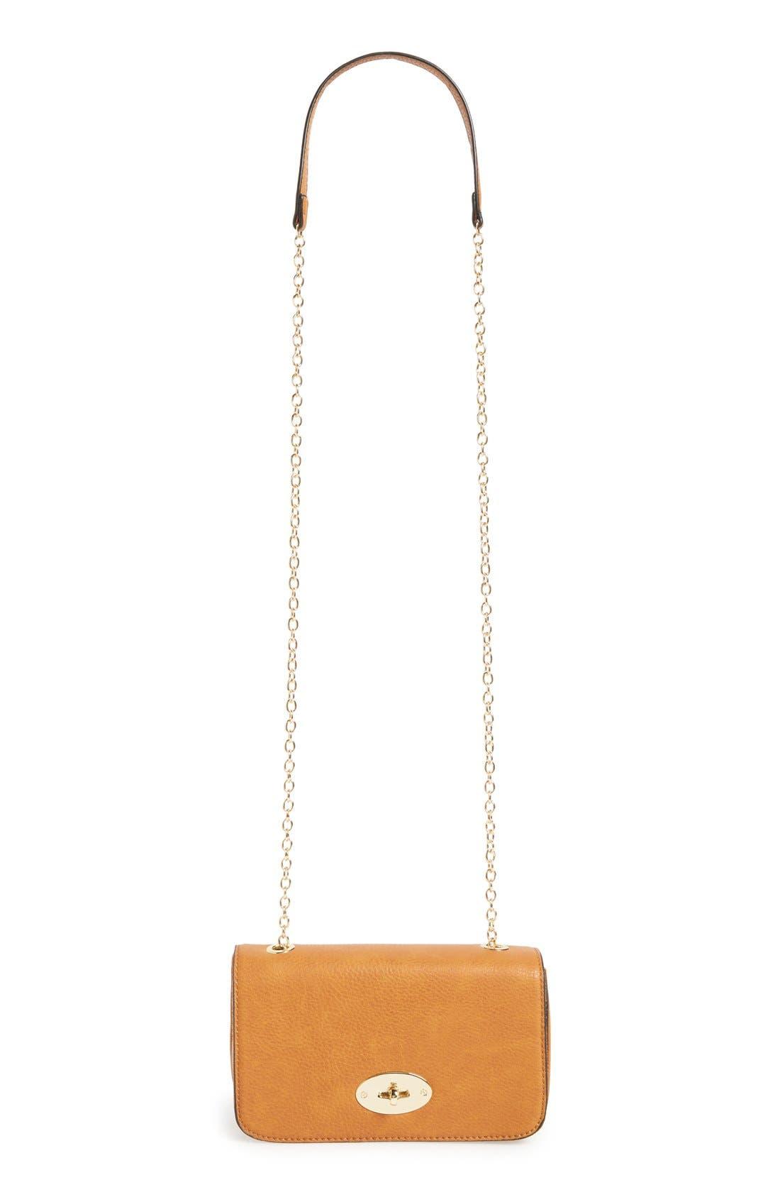 Faux Leather Crossbody Bag,                             Main thumbnail 3, color,