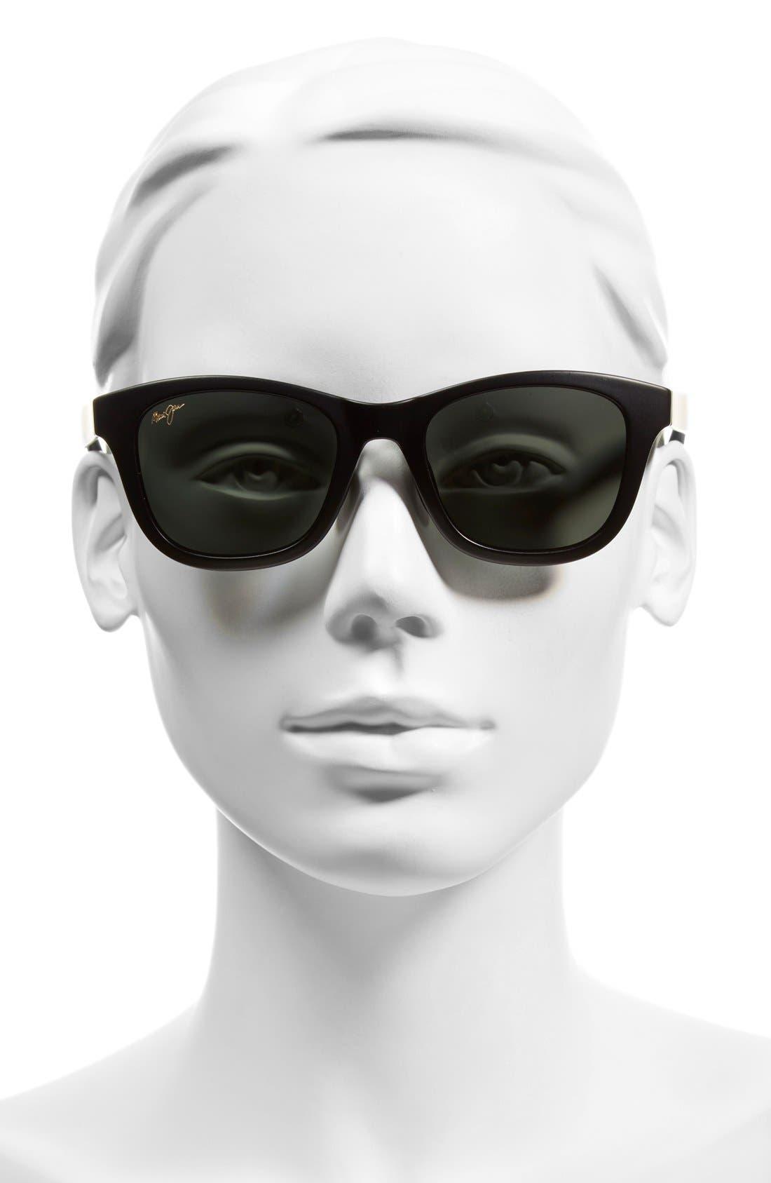 Hana Bay 51mm PolarizedPlus2<sup>®</sup> Sunglasses,                             Alternate thumbnail 4, color,                             MATTE BLACK/ NEUTRAL GREY