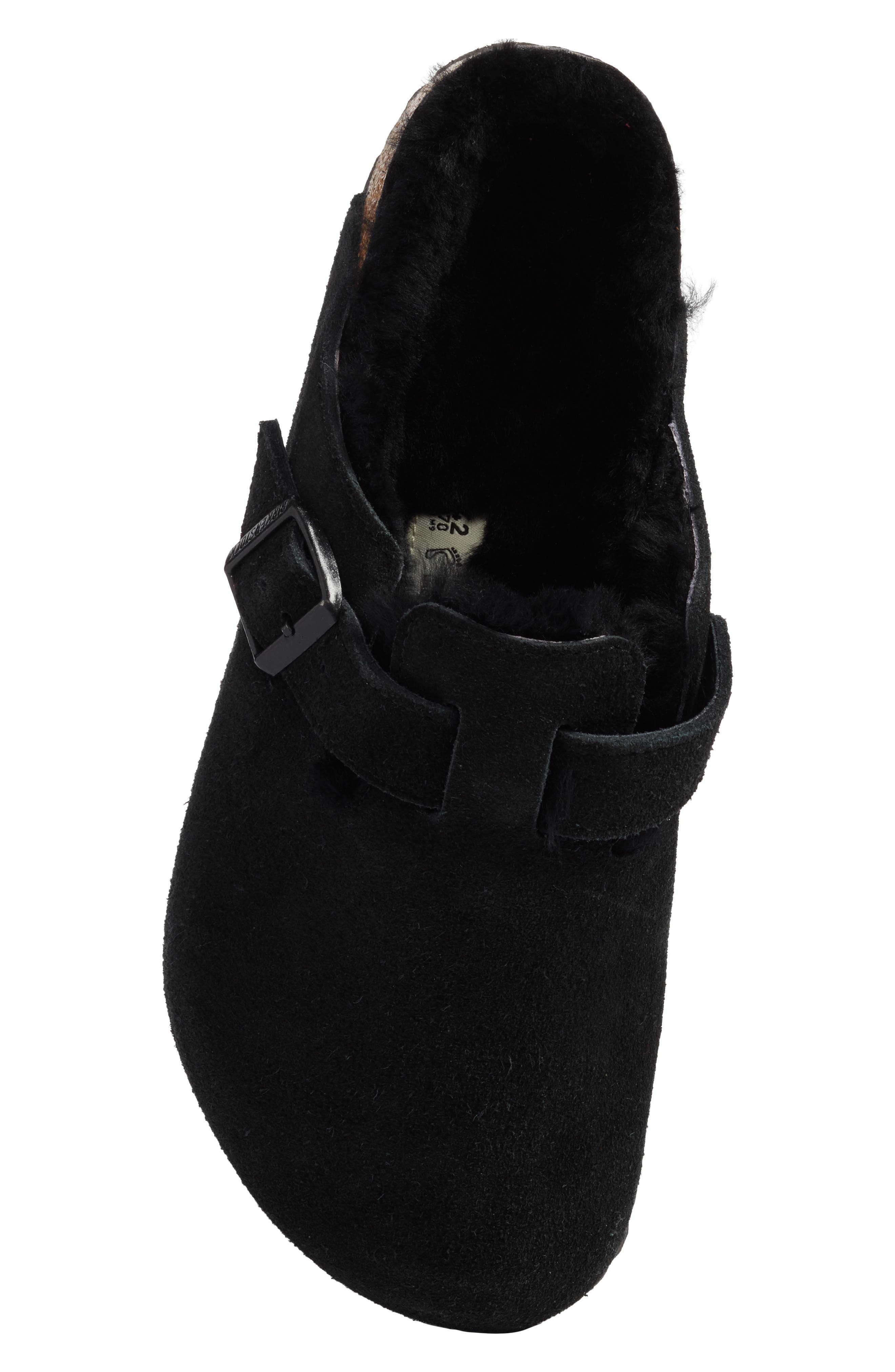 Boston Genuine Shearling Lined Clog,                             Alternate thumbnail 5, color,