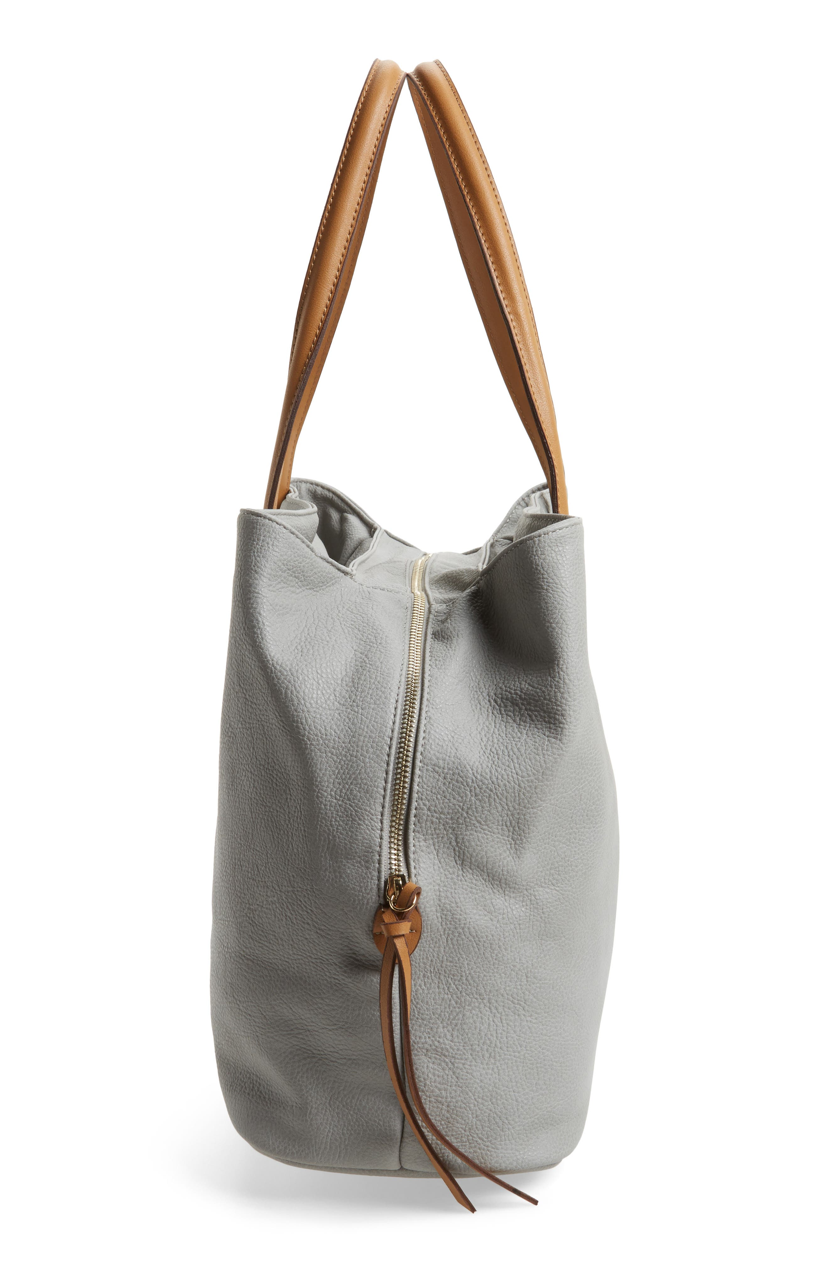 Millar Faux Leather Tote,                             Alternate thumbnail 5, color,                             020