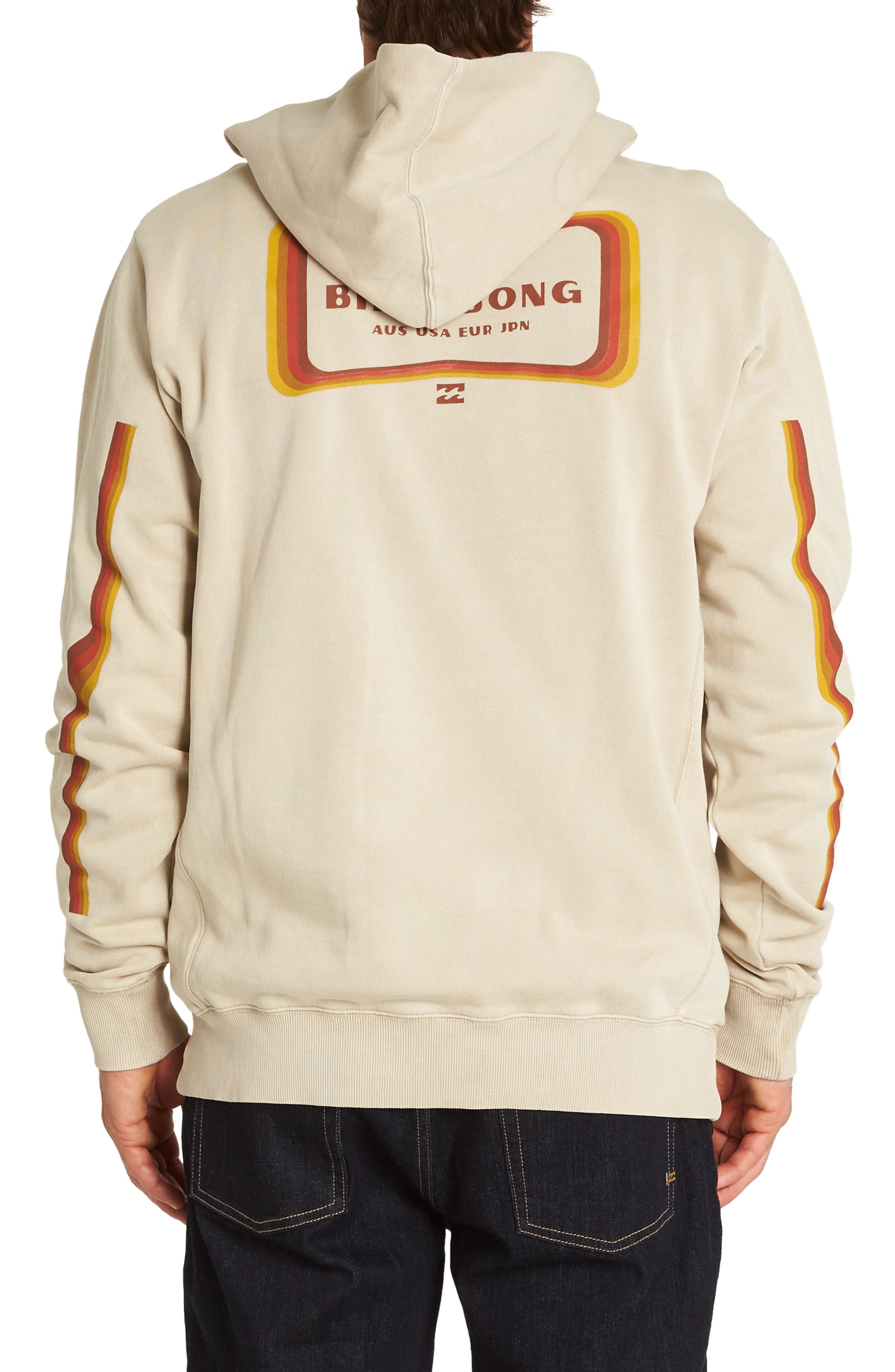 Wave Washed Graphic Hooded Sweatshirt,                             Alternate thumbnail 2, color,                             CHINO