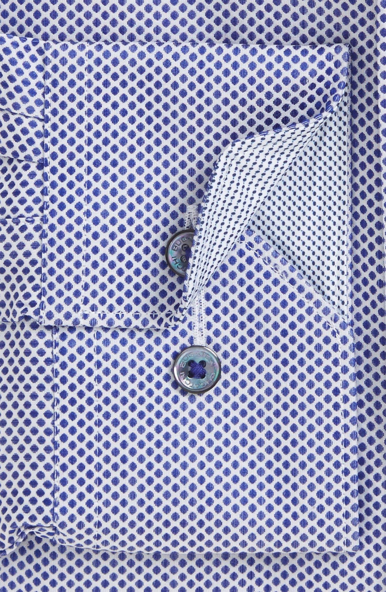 Trim Fit Dot Dress Shirt,                         Main,                         color, 411
