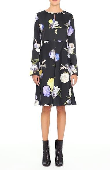 Dahari Floral Print High/Low Dress, video thumbnail