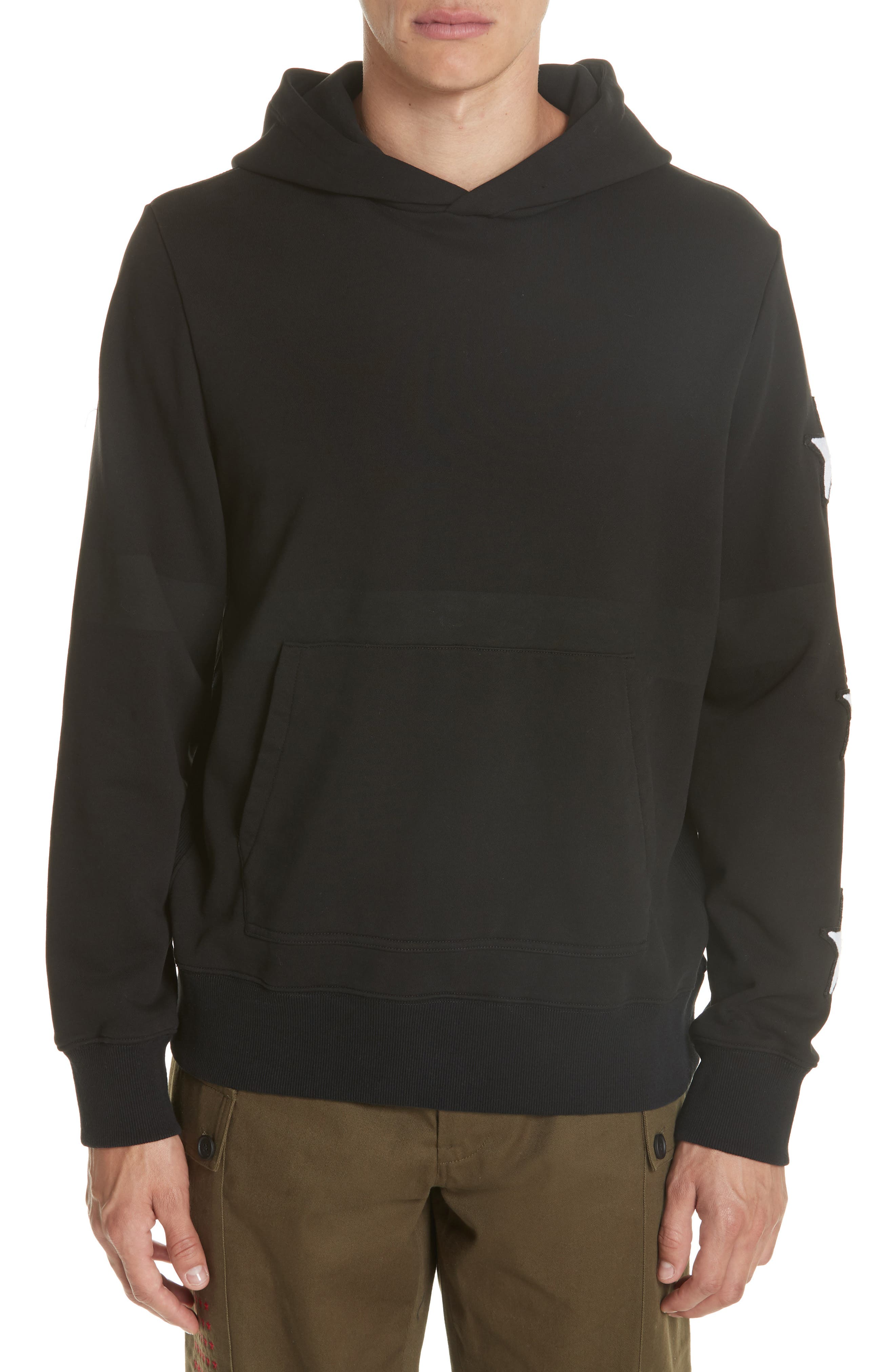 Star Patch Hoodie,                             Main thumbnail 1, color,                             001