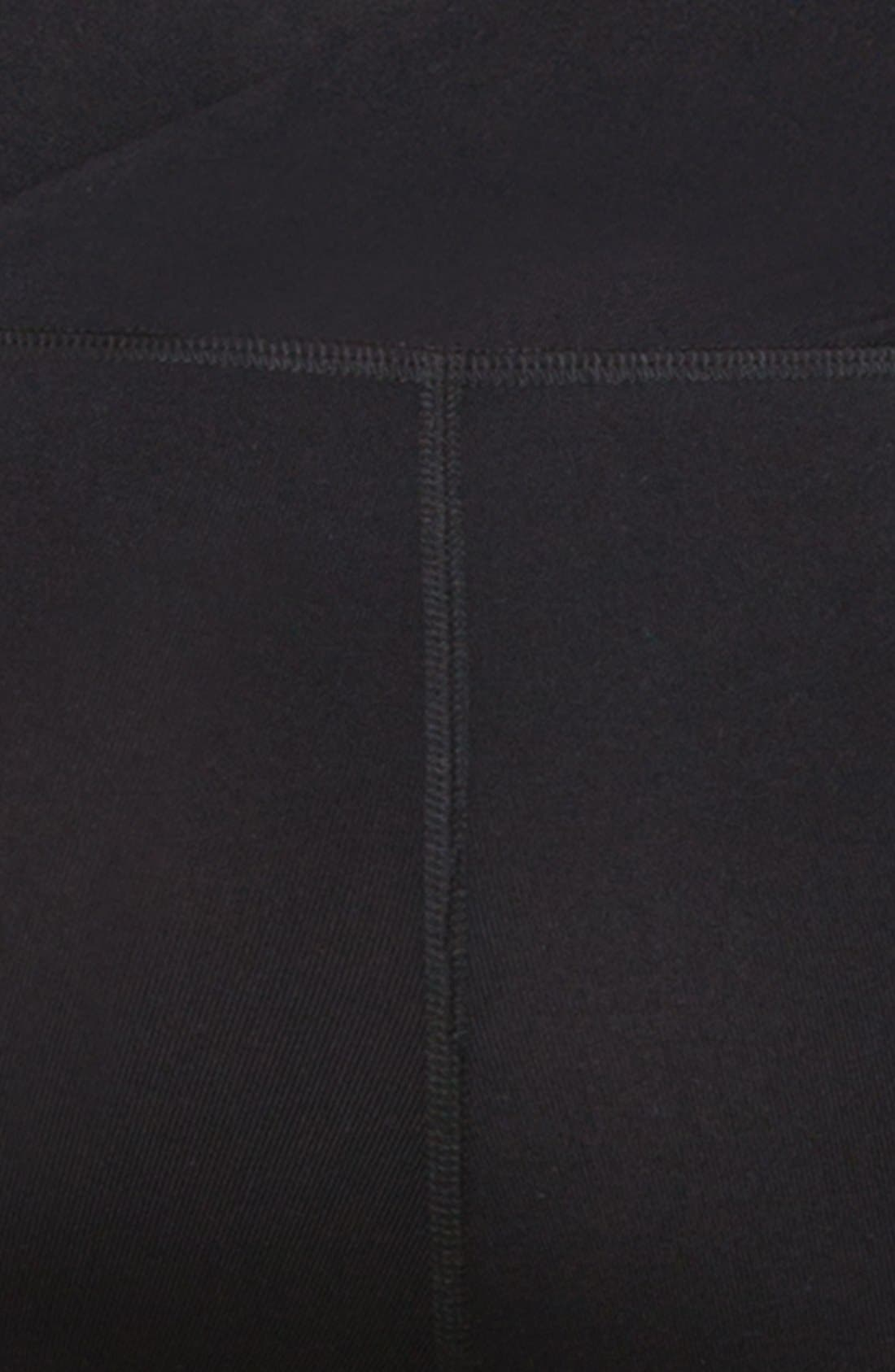 Active Maternity Pants with Crossover Panel,                             Alternate thumbnail 4, color,                             001
