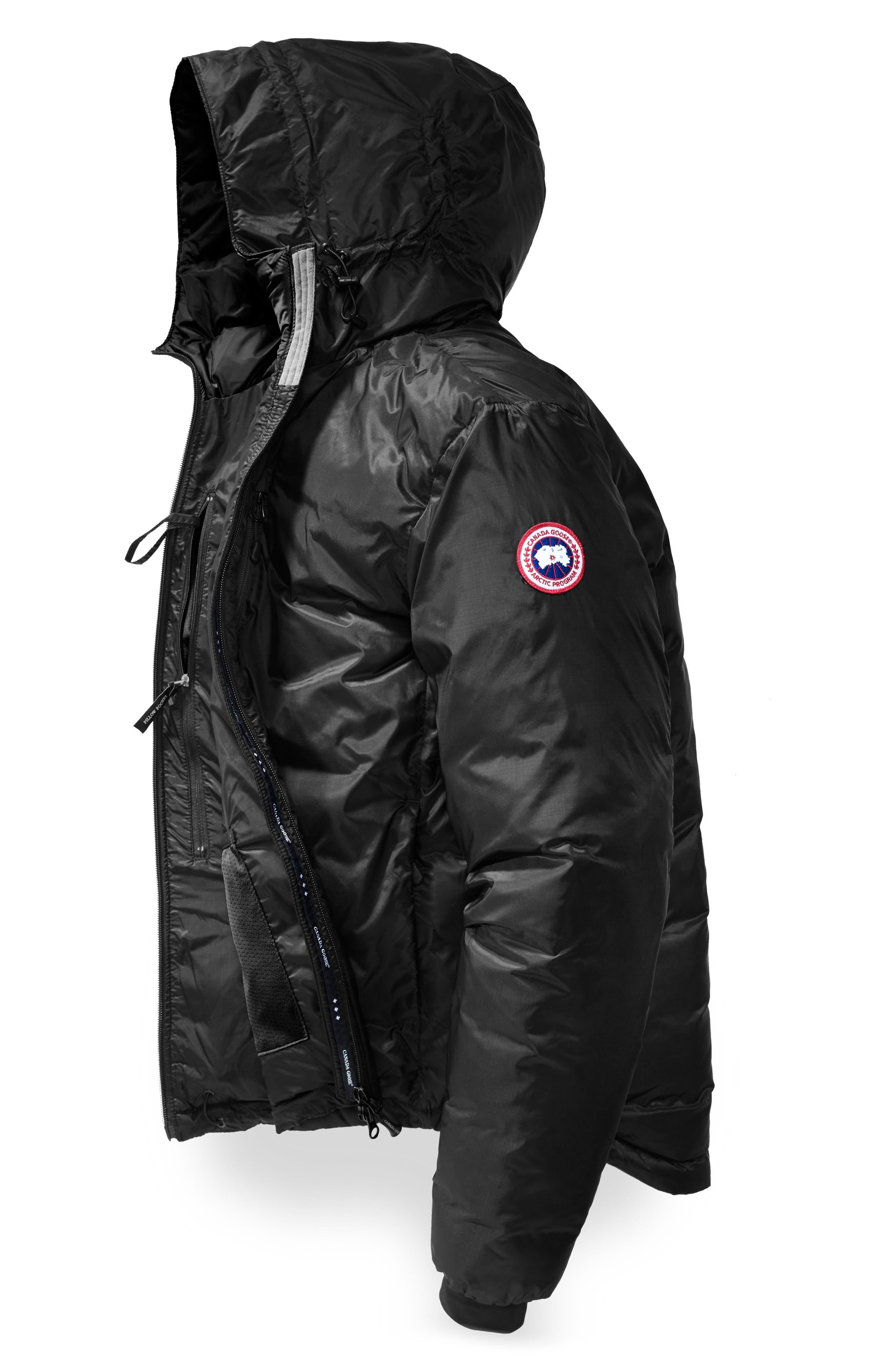 'Lodge' Slim Fit Packable Jacket,                             Alternate thumbnail 6, color,                             BLACK