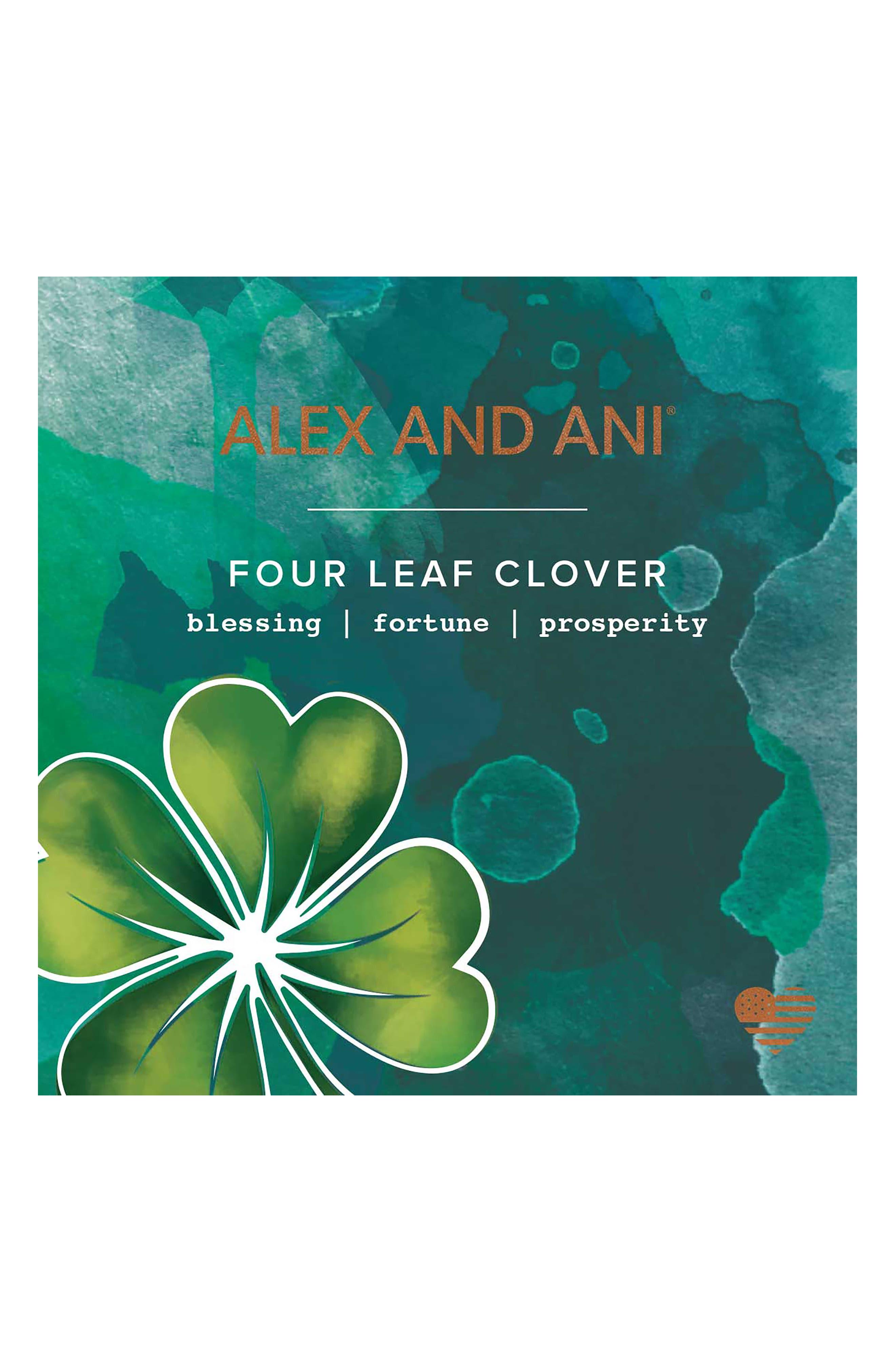 Four-Leaf Clover Art Infusion Set of 2 Bangles,                             Alternate thumbnail 3, color,                             040