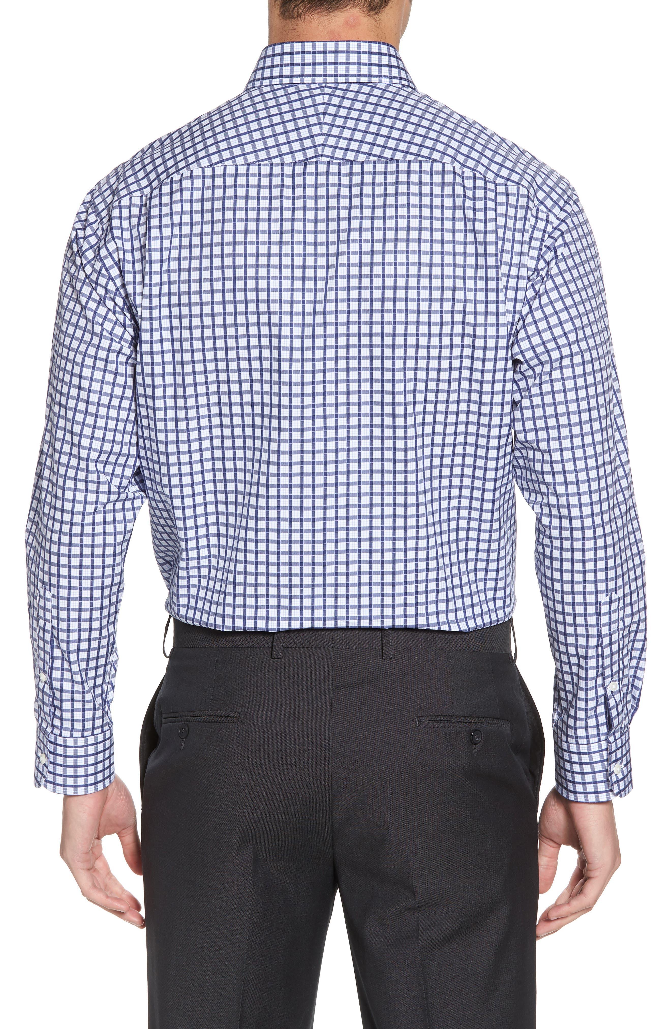 Classic Fit Check Dress Shirt,                             Alternate thumbnail 3, color,                             410