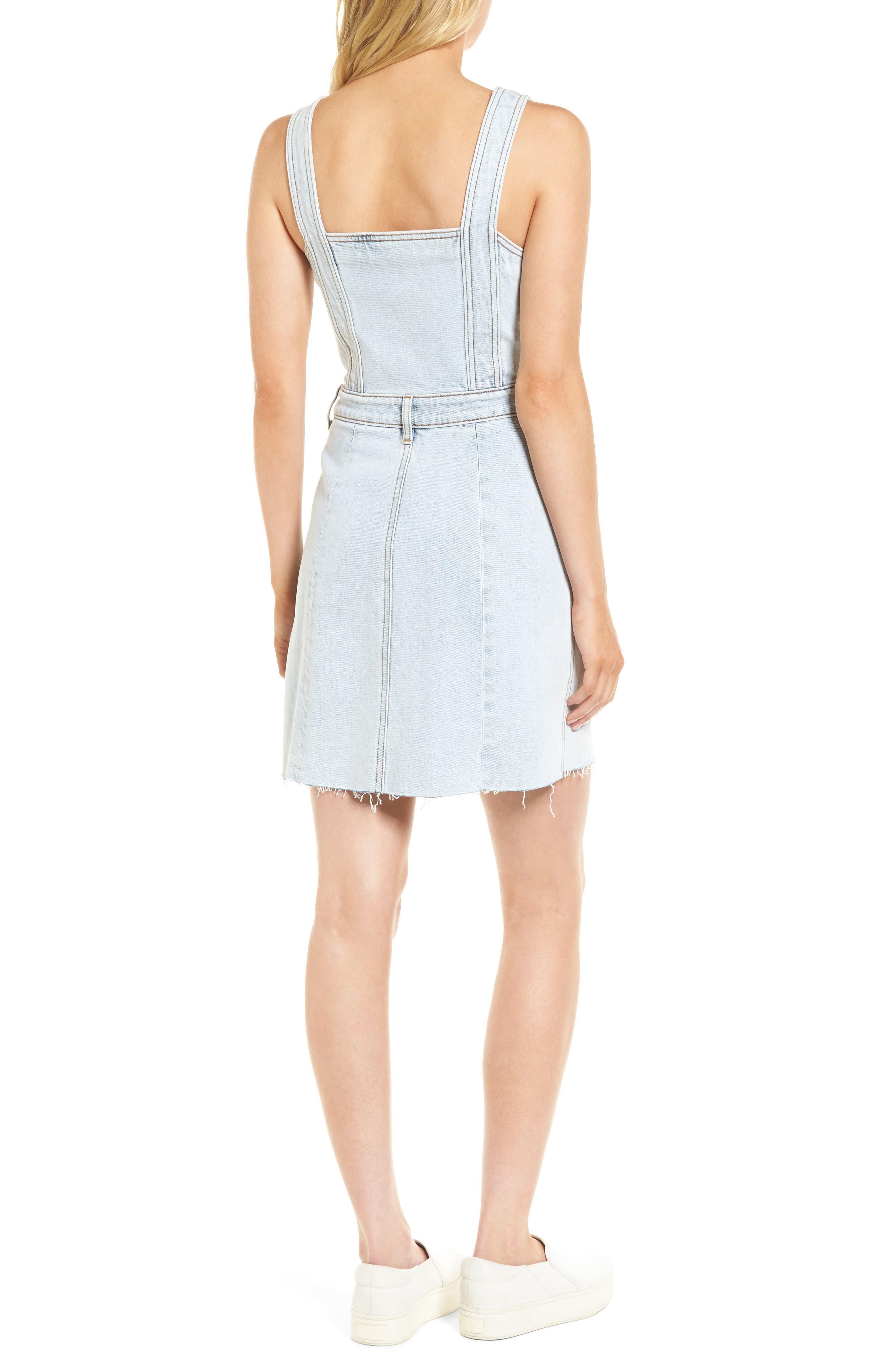 Denim Pinafore Dress,                             Alternate thumbnail 2, color,                             402