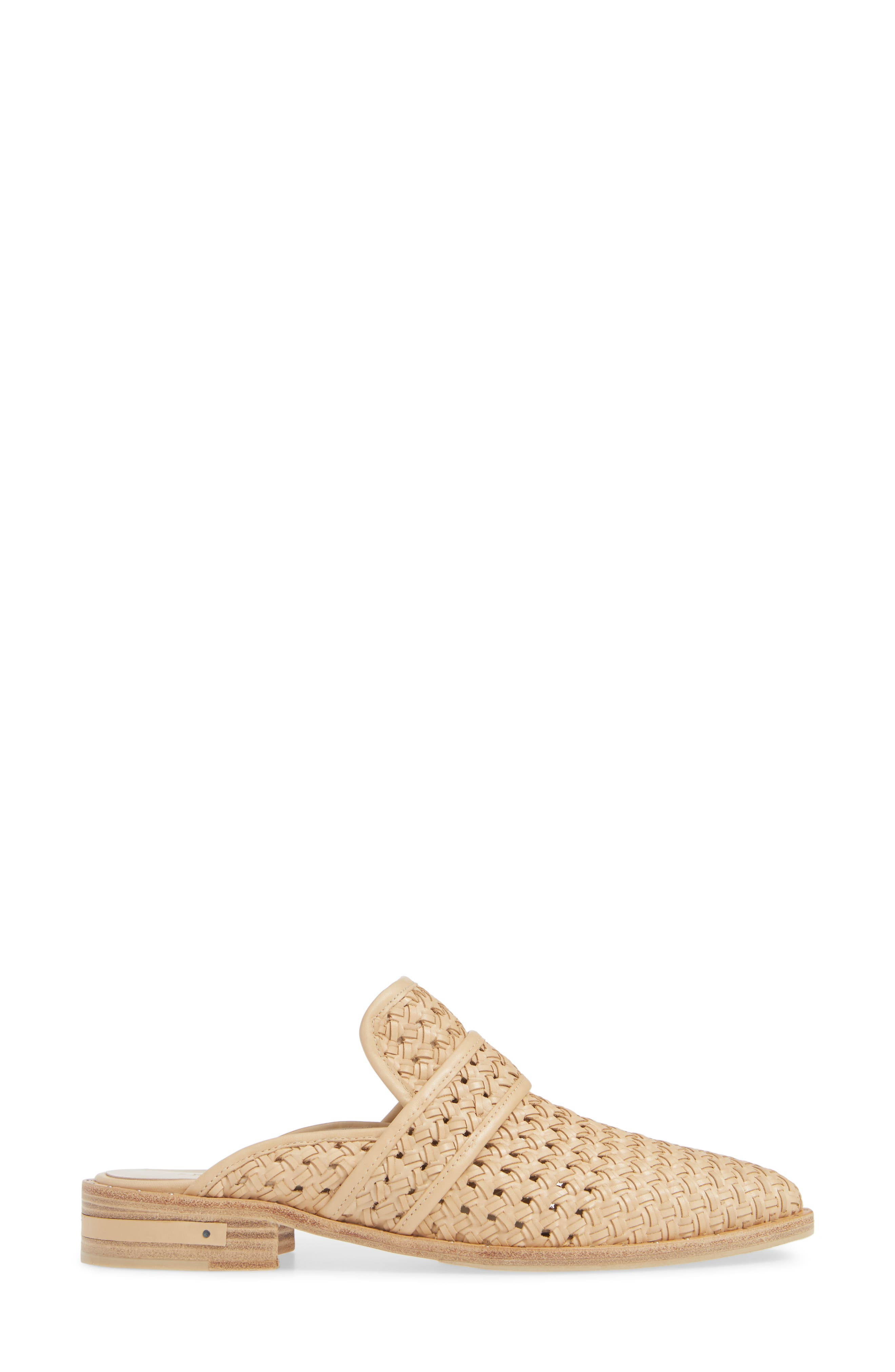 Keen Loafer Mule,                             Alternate thumbnail 3, color,                             NUDE WOVEN