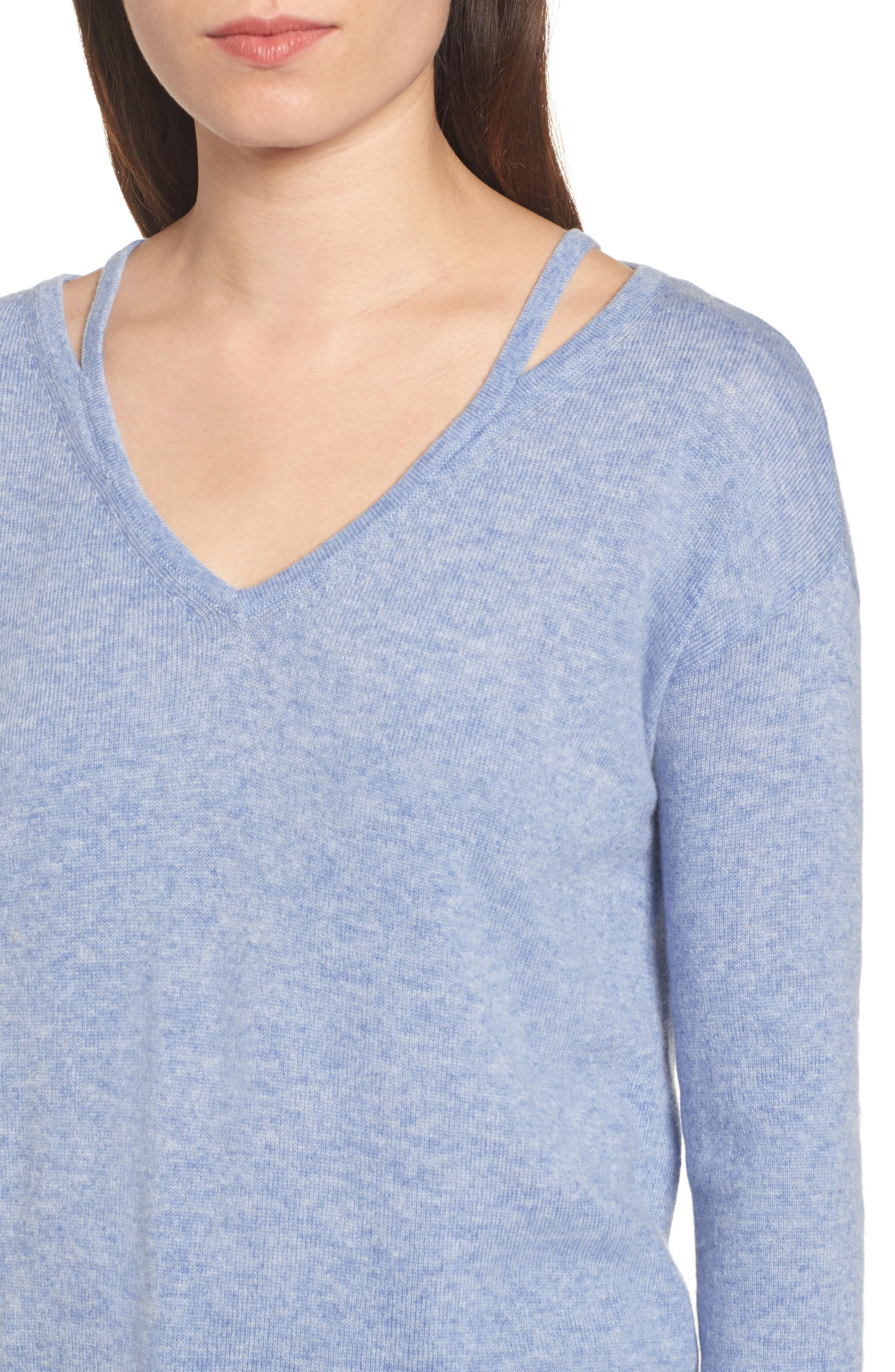 Kenley Wool & Cashmere Sweater,                             Alternate thumbnail 4, color,                             400