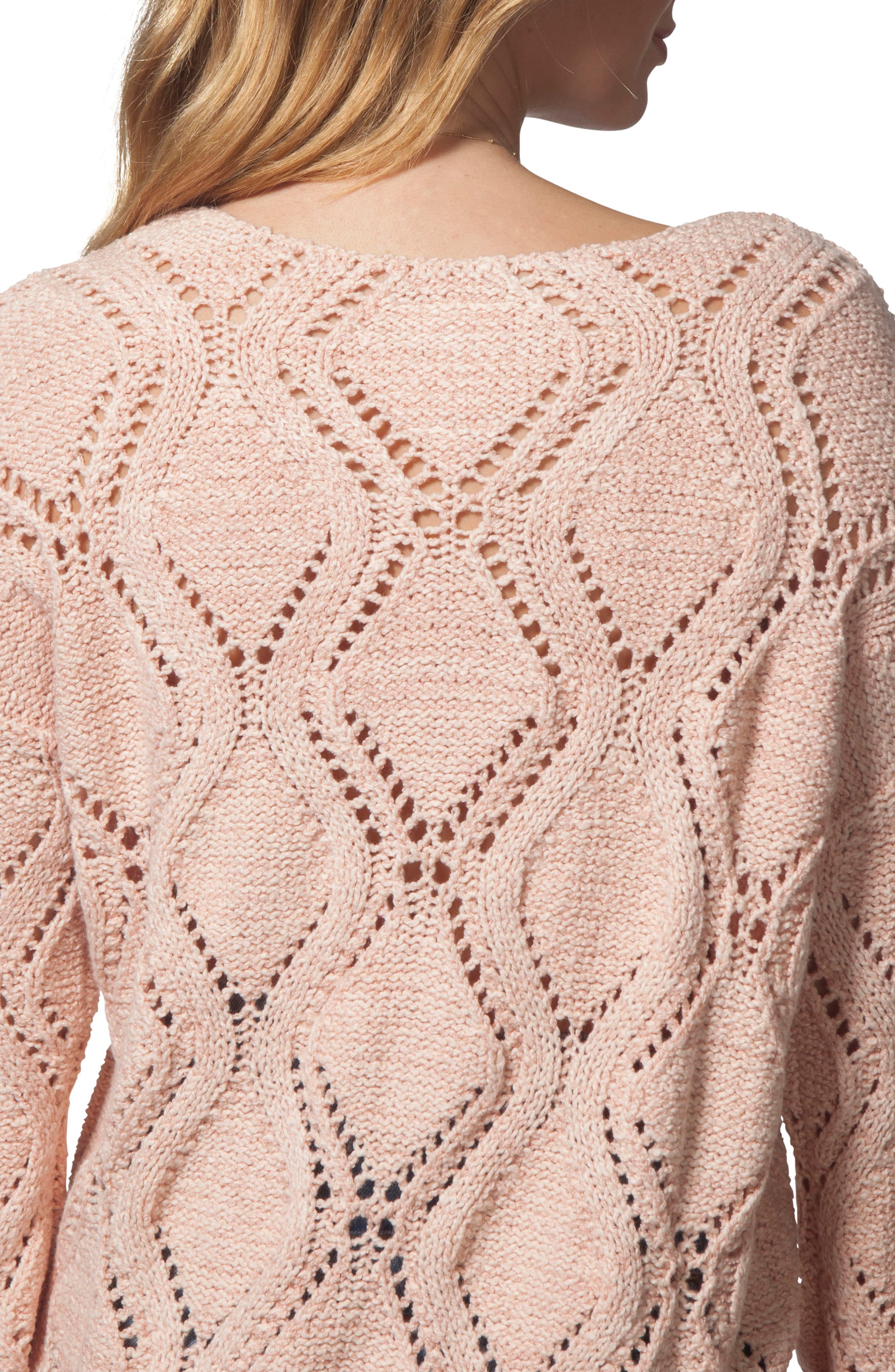 Love Spell Sweater,                             Alternate thumbnail 4, color,                             CORAL