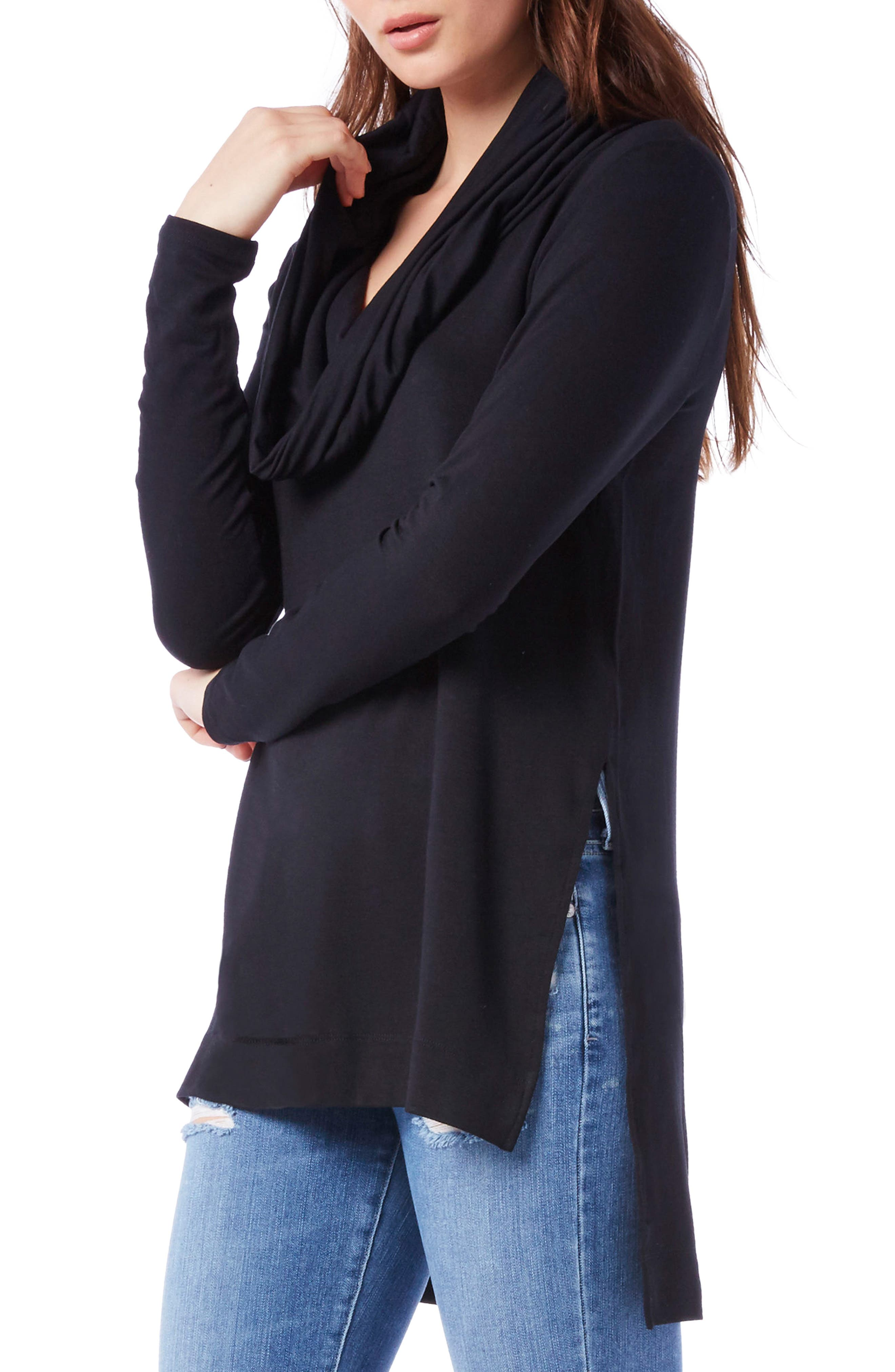 Cowl Hooded Tunic,                             Alternate thumbnail 3, color,                             001