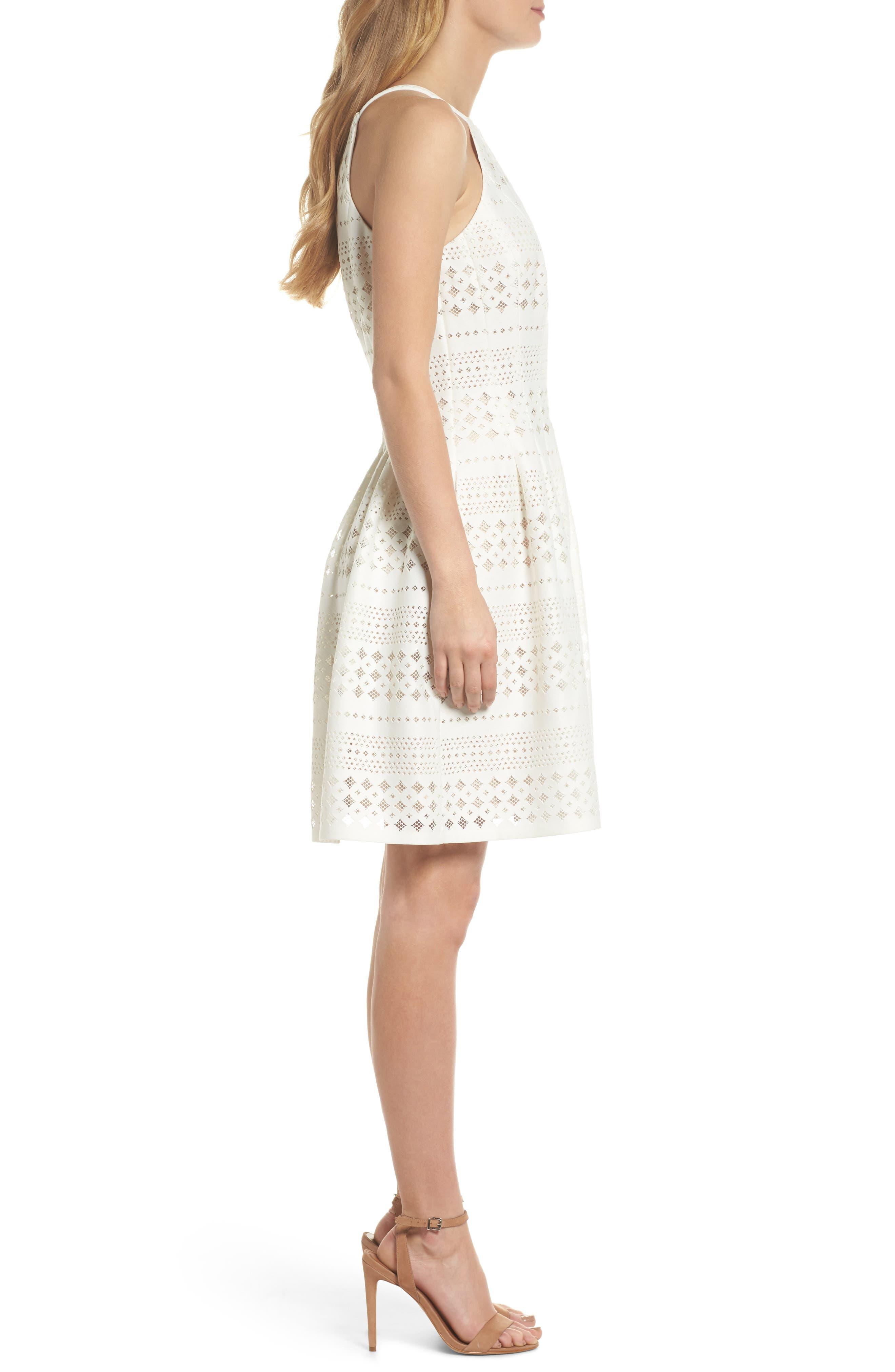 Laser Cut Fit & Flare Halter Dress,                             Alternate thumbnail 9, color,