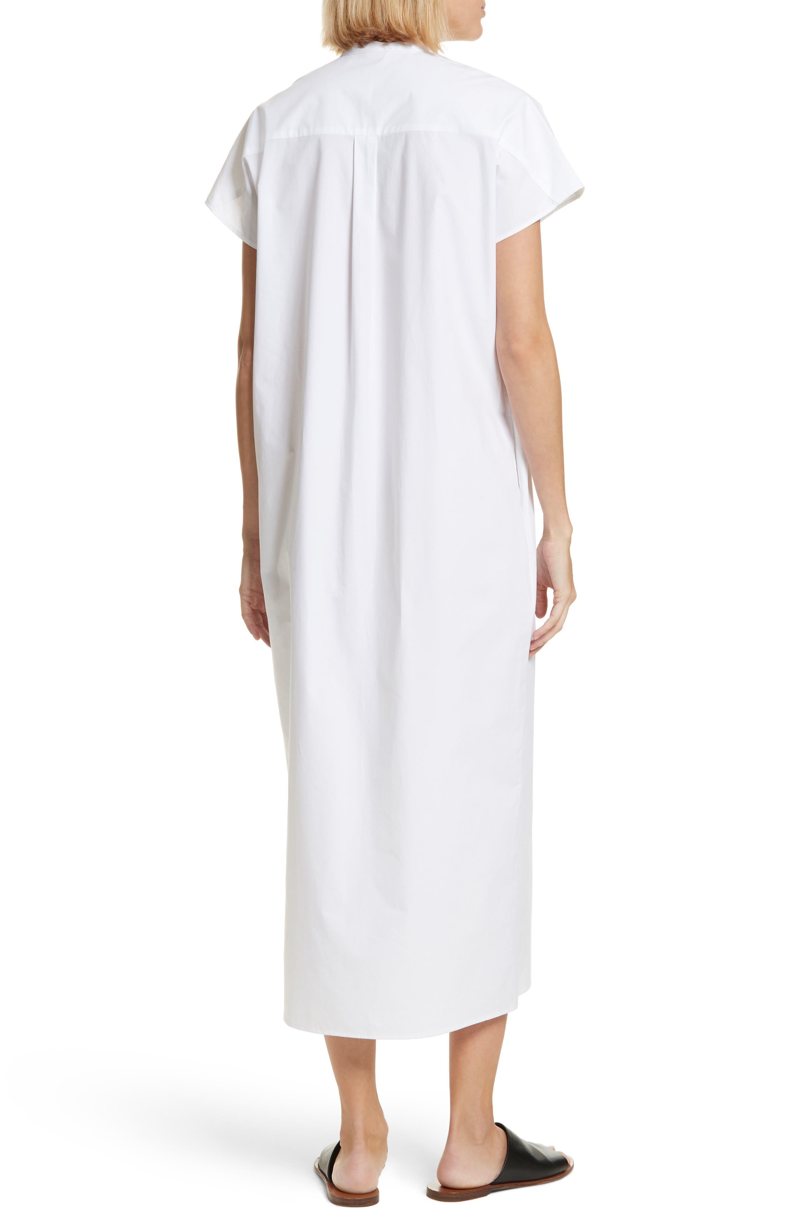 Isac Poplin Midi Dress,                             Alternate thumbnail 2, color,                             100