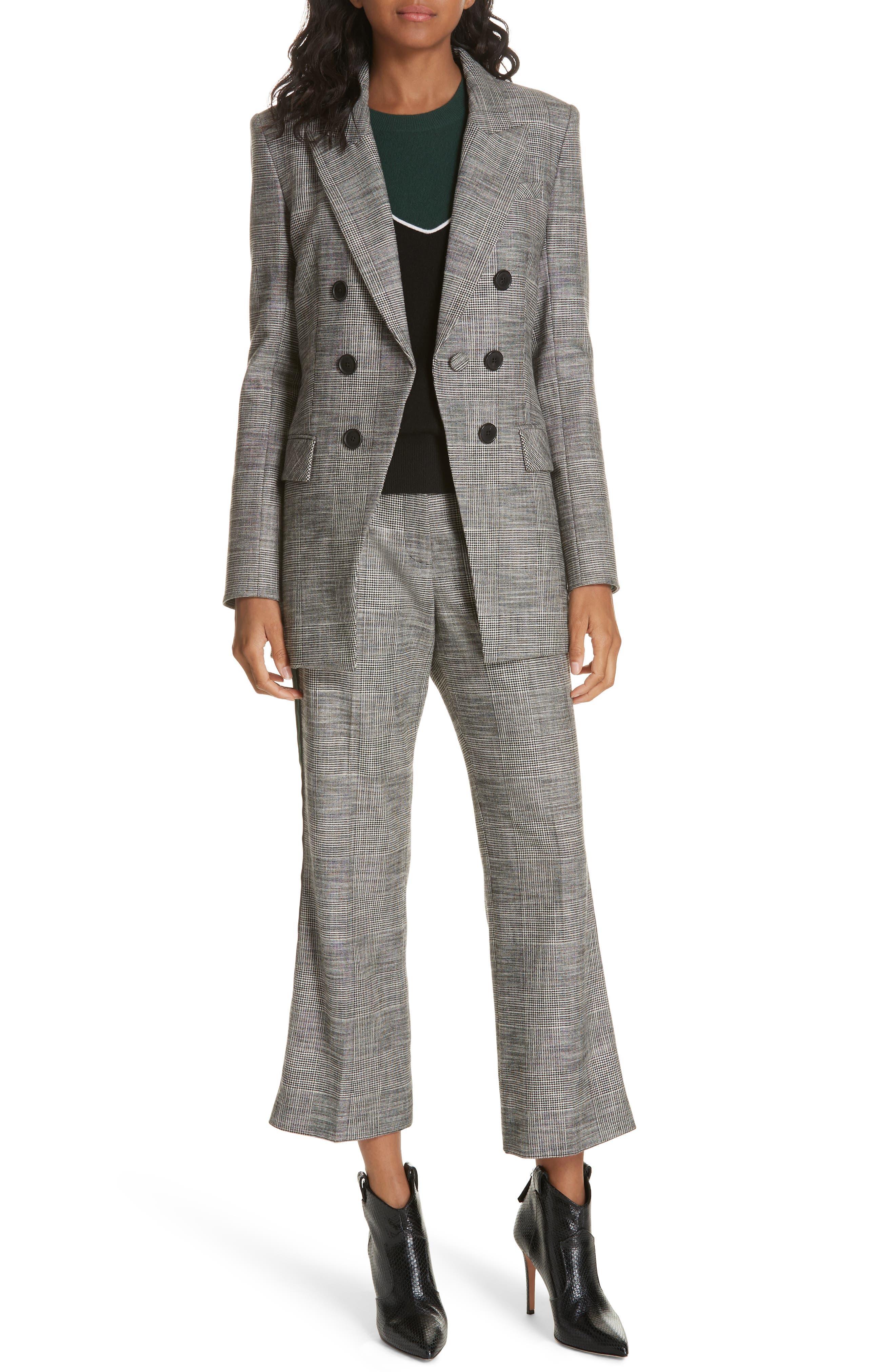 Cormac Side Stripe Check Trousers,                             Alternate thumbnail 7, color,                             020