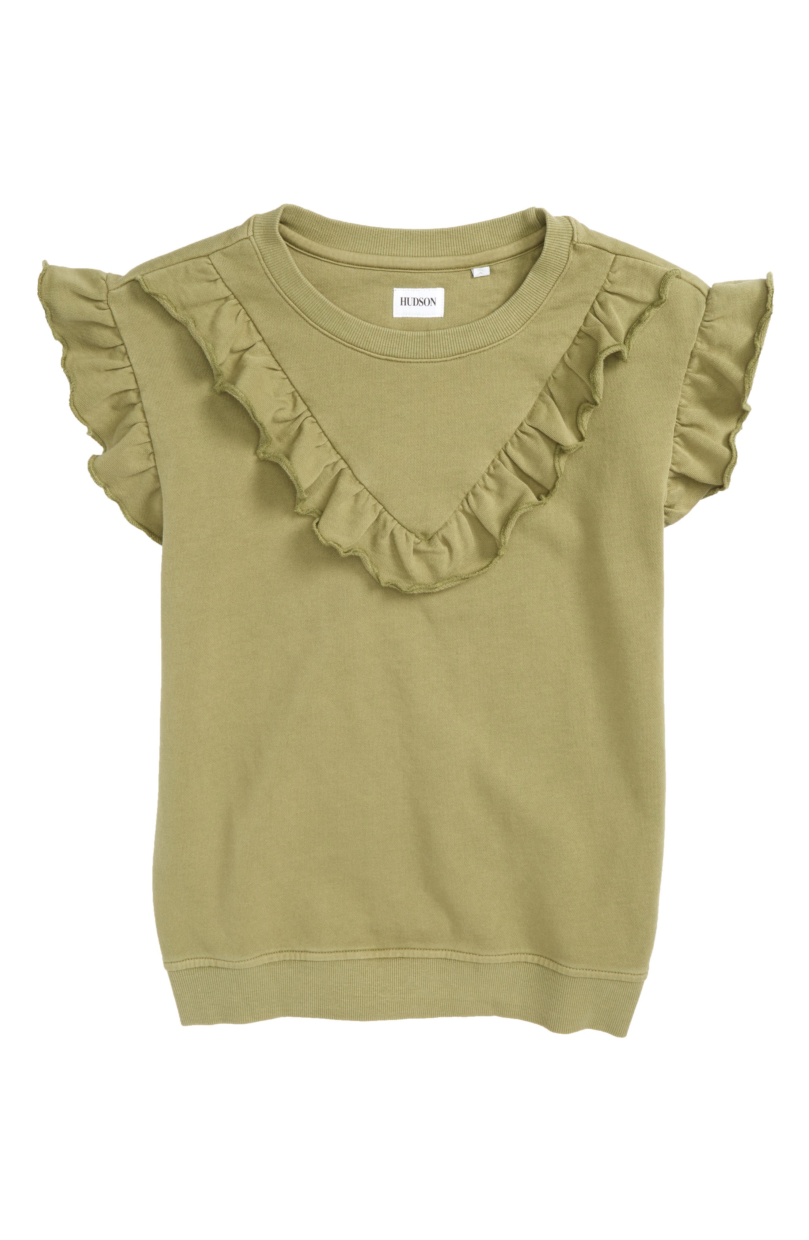 Ruffle Crewneck Pullover,                         Main,                         color, 300