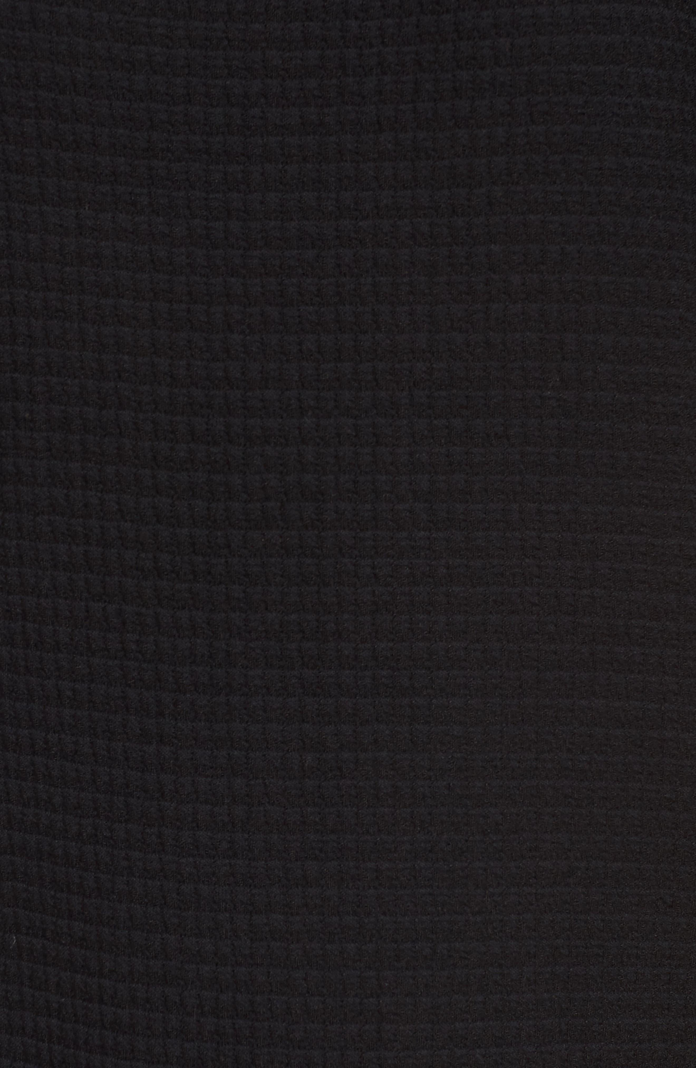 Jacquard Shift Dress,                             Alternate thumbnail 5, color,                             001