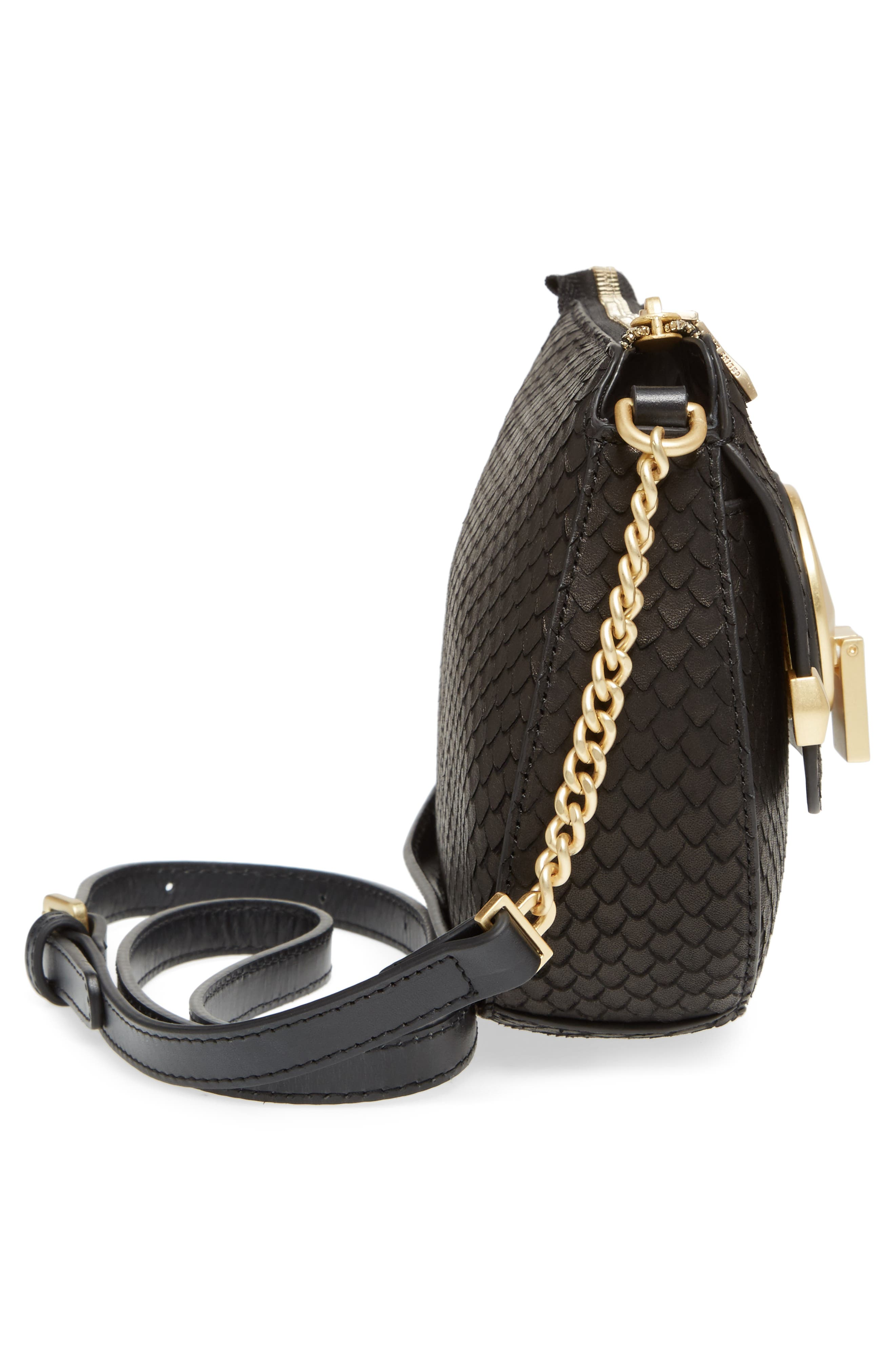 Céline Dion Octave Leather Crossbody Bag,                             Alternate thumbnail 5, color,