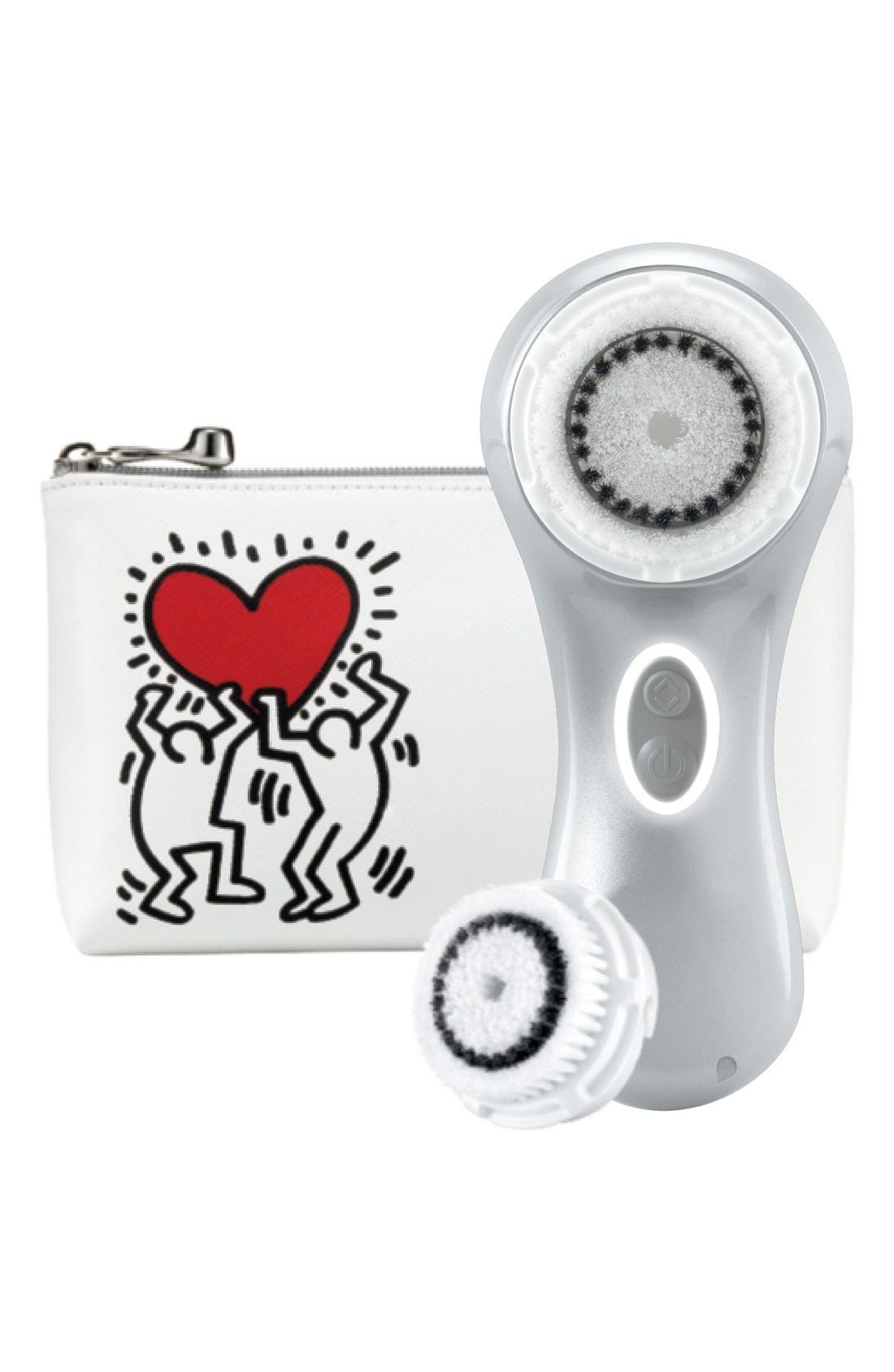 'Mia 2 - Keith Haring Silver' Sonic Skin Cleansing System,                             Main thumbnail 1, color,                             000