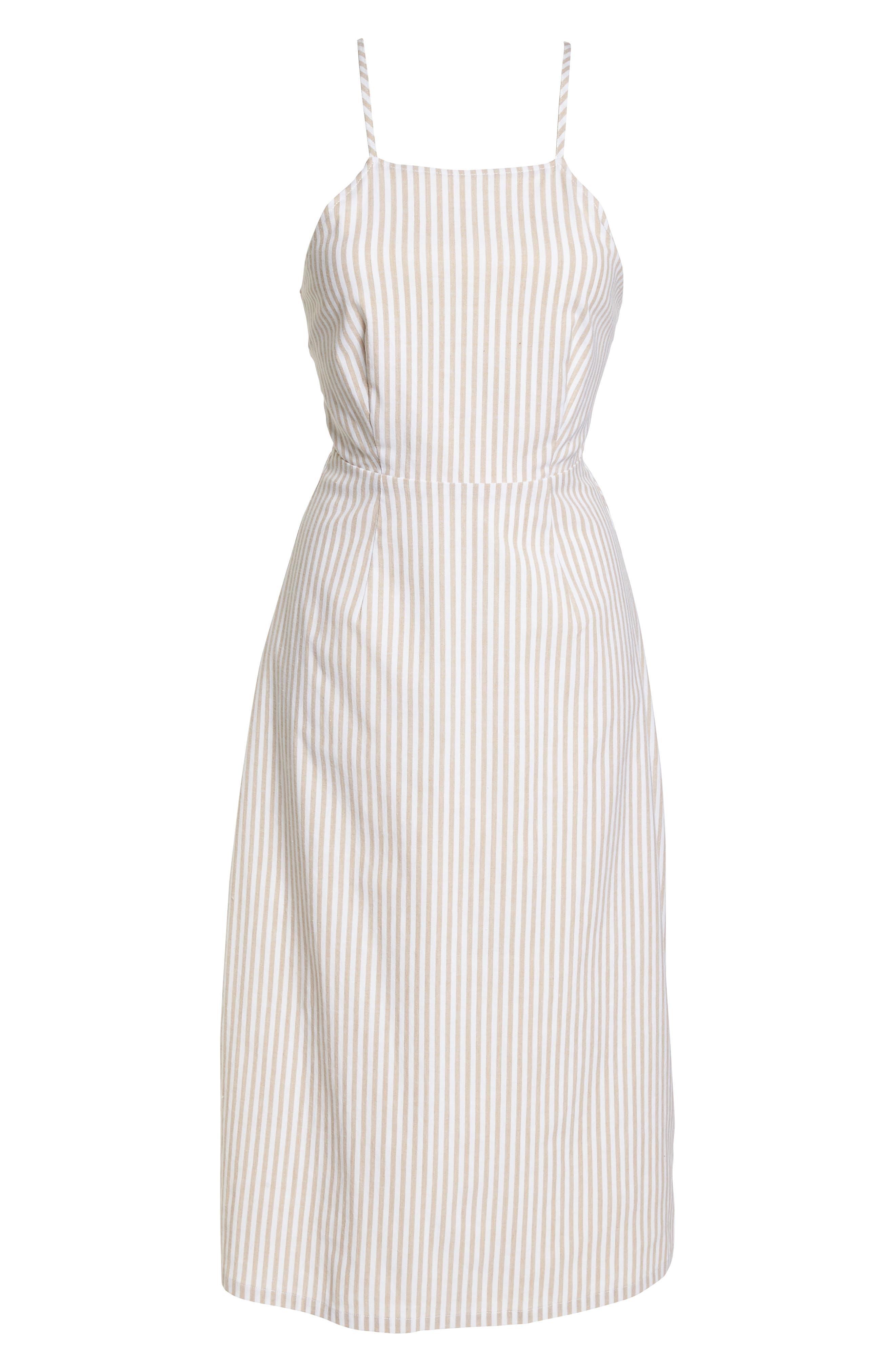 Halter Neck Midi Dress,                             Alternate thumbnail 7, color,                             250