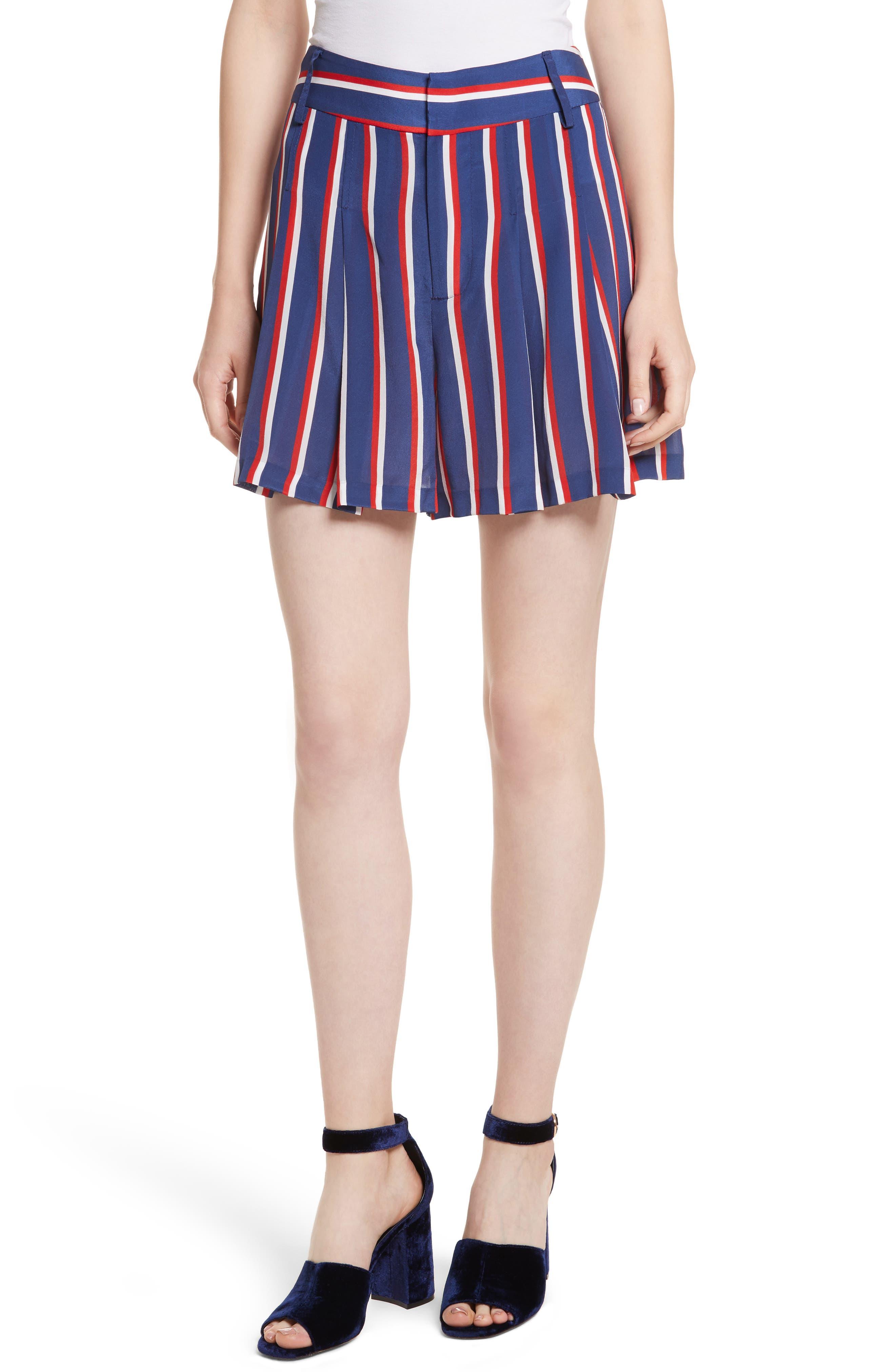 Scarlet Super High Waist Flutter Shorts,                             Main thumbnail 1, color,                             475