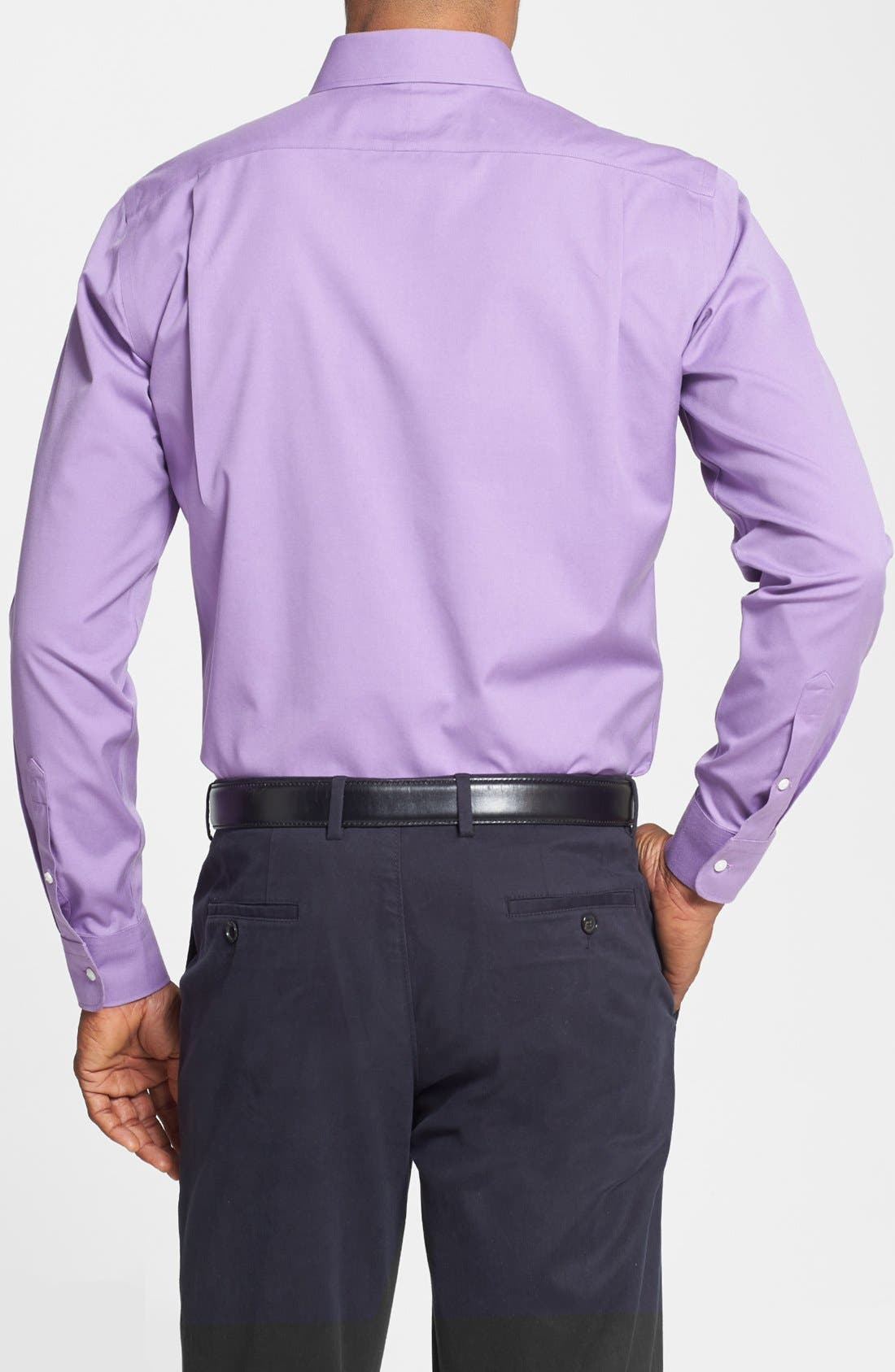 Smartcare<sup>™</sup> Trim Fit Solid Dress Shirt,                             Alternate thumbnail 41, color,