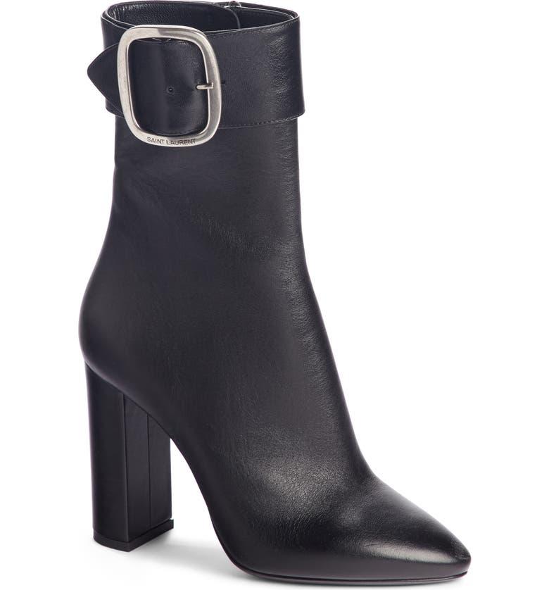 494bee80641 Saint Laurent Joplin 105 Ankle Boots In Black Leather. | ModeSens
