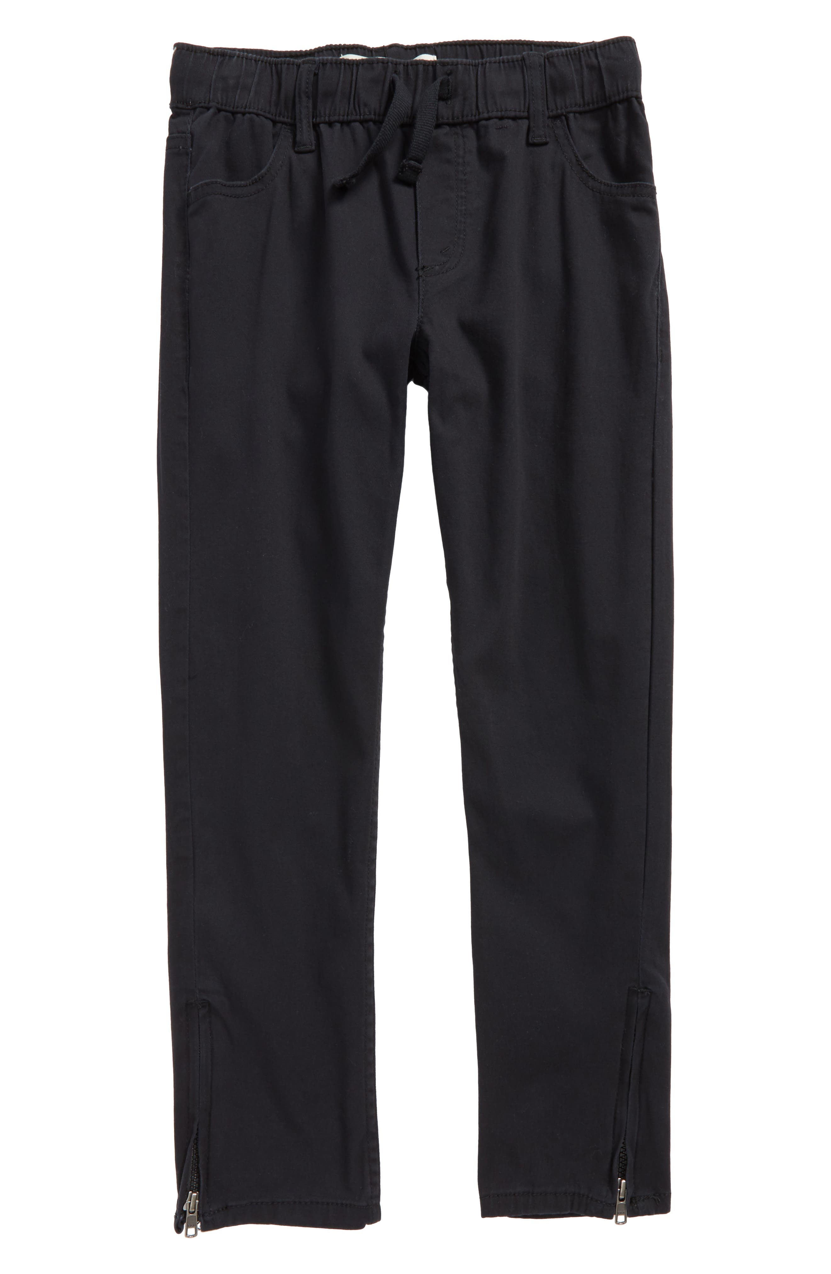 Zip Cuff Pull-On Pants,                             Main thumbnail 1, color,                             001