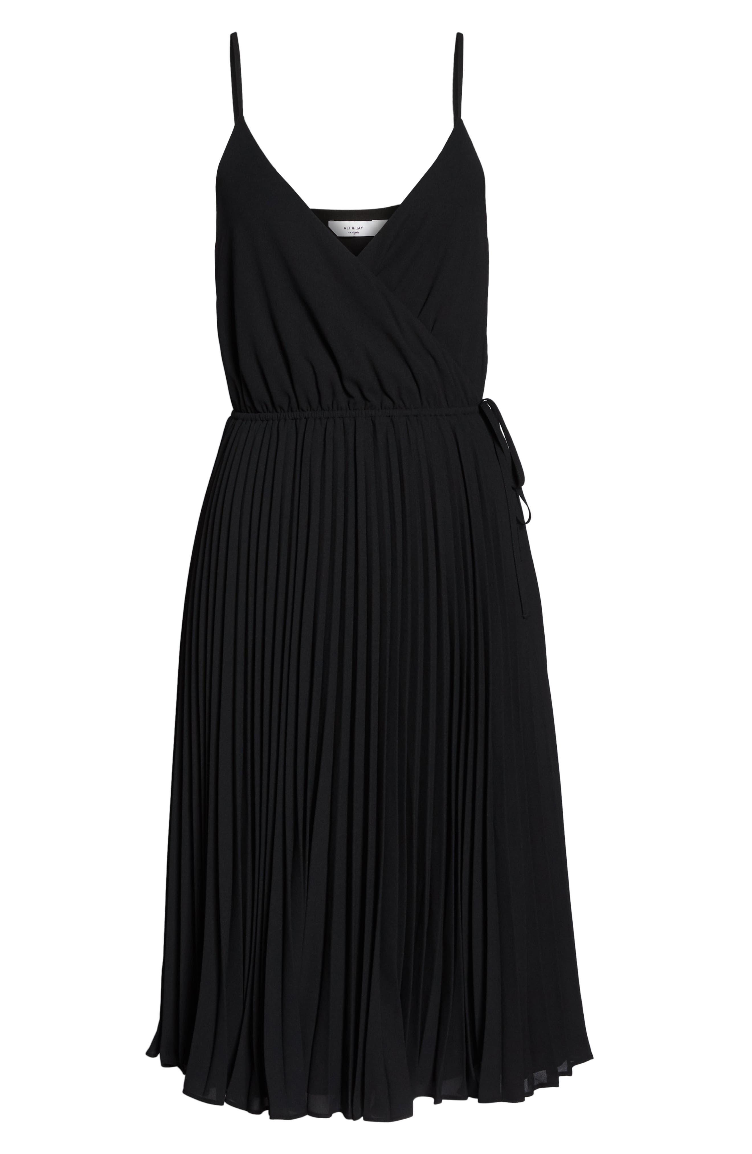 Lily Pond Faux Wrap Dress,                             Alternate thumbnail 6, color,                             001